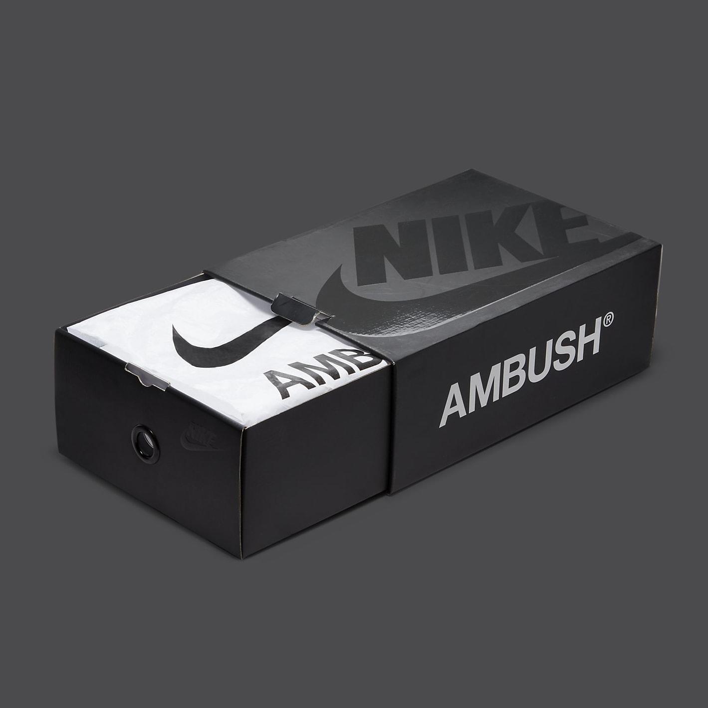 Ambush x Nike Dunk High Atomic Green Release Date CU7544-300 Box