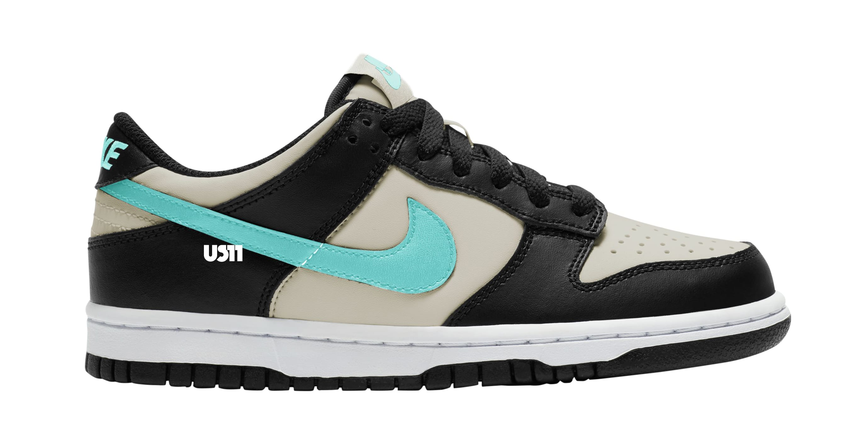 Nike Dunk Low GS Tan/Black/Teal Lateral
