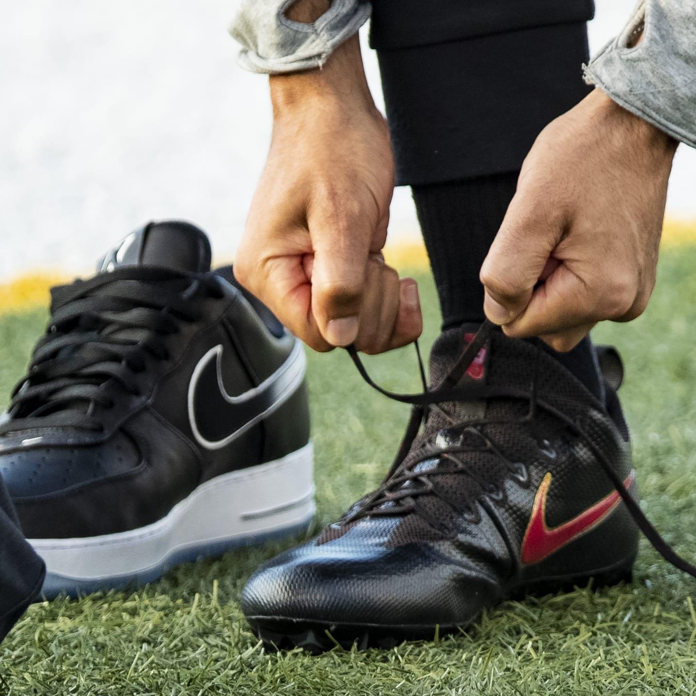 Colin Kaepernick Debuts Nike Air Force 1 Collaboration at Workout