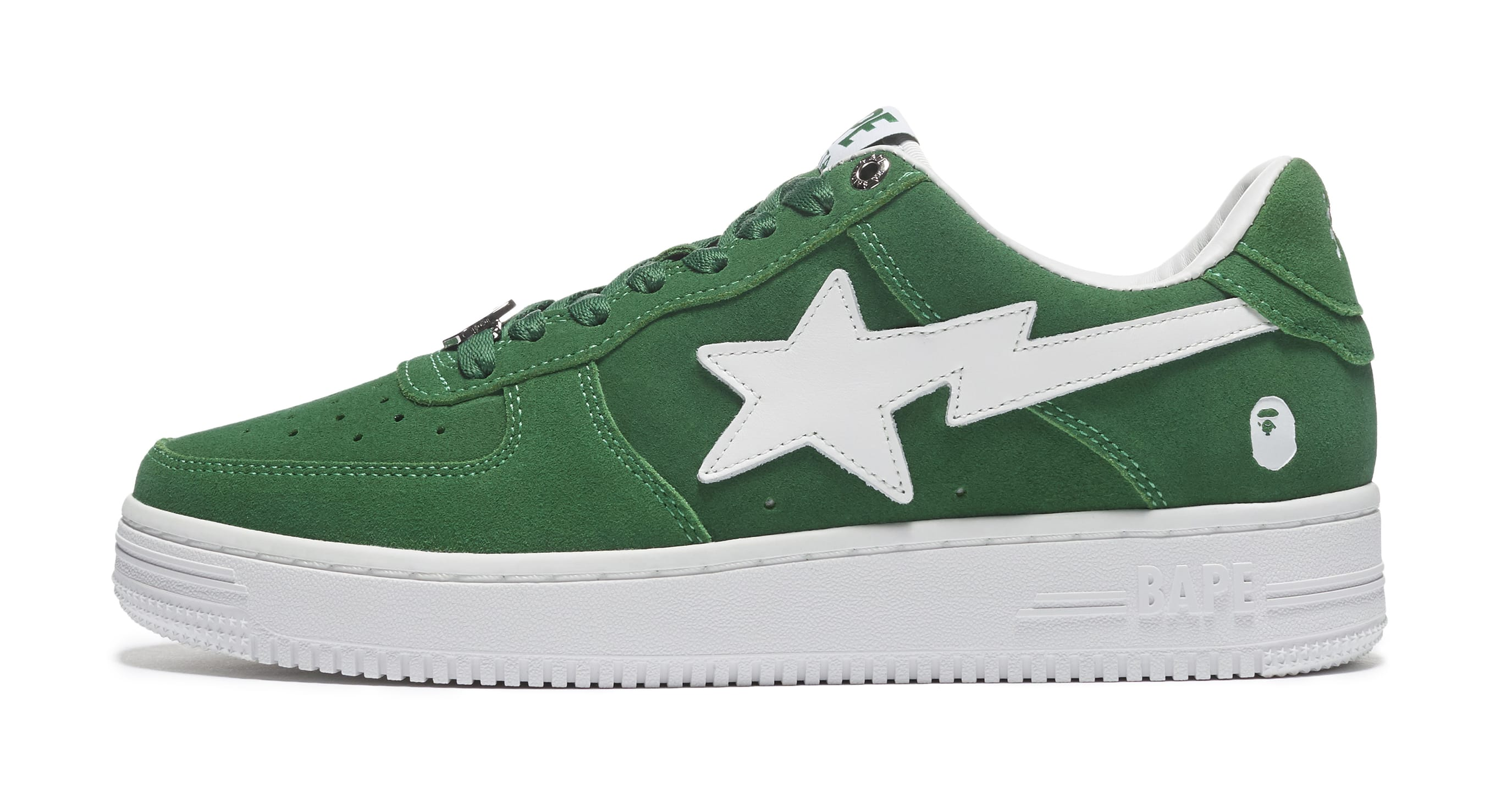 Bape Sta Suede 'Green' Lateral