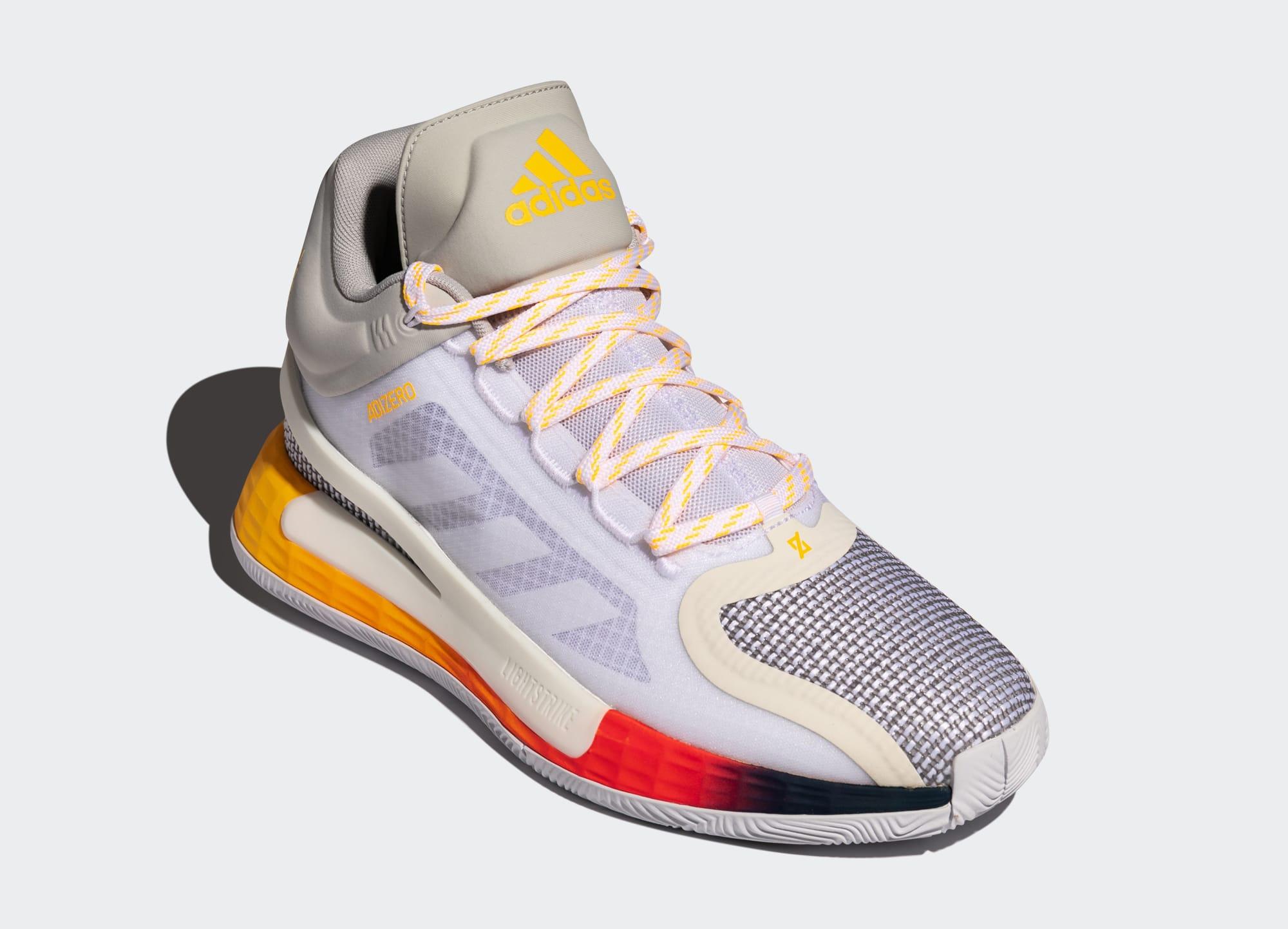 Adidas D Rose 11 'Ftwr White/Solar Gold/Tech Indigo' FW8508 Front