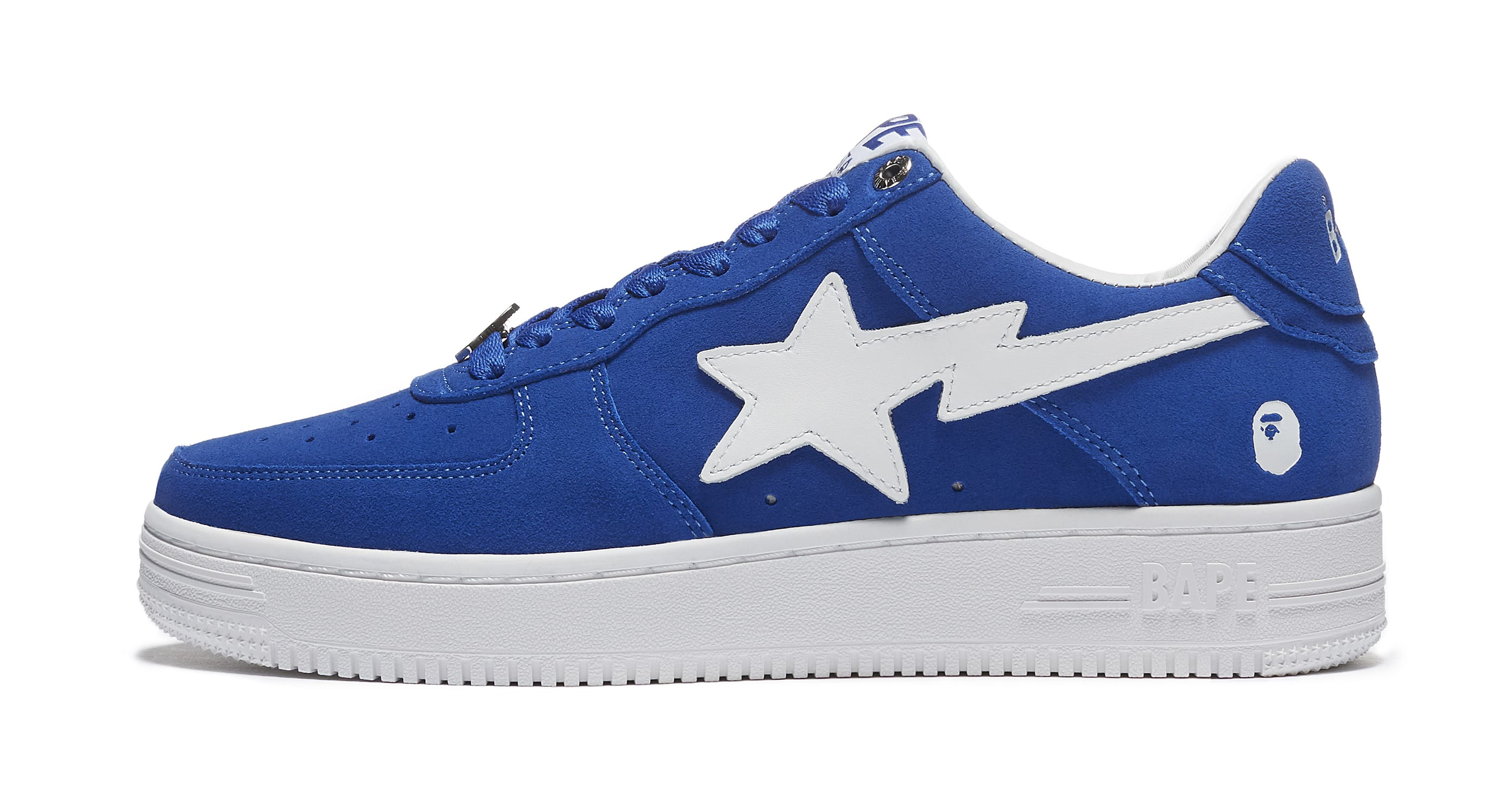 Bape Sta Suede 'Blue' Lateral