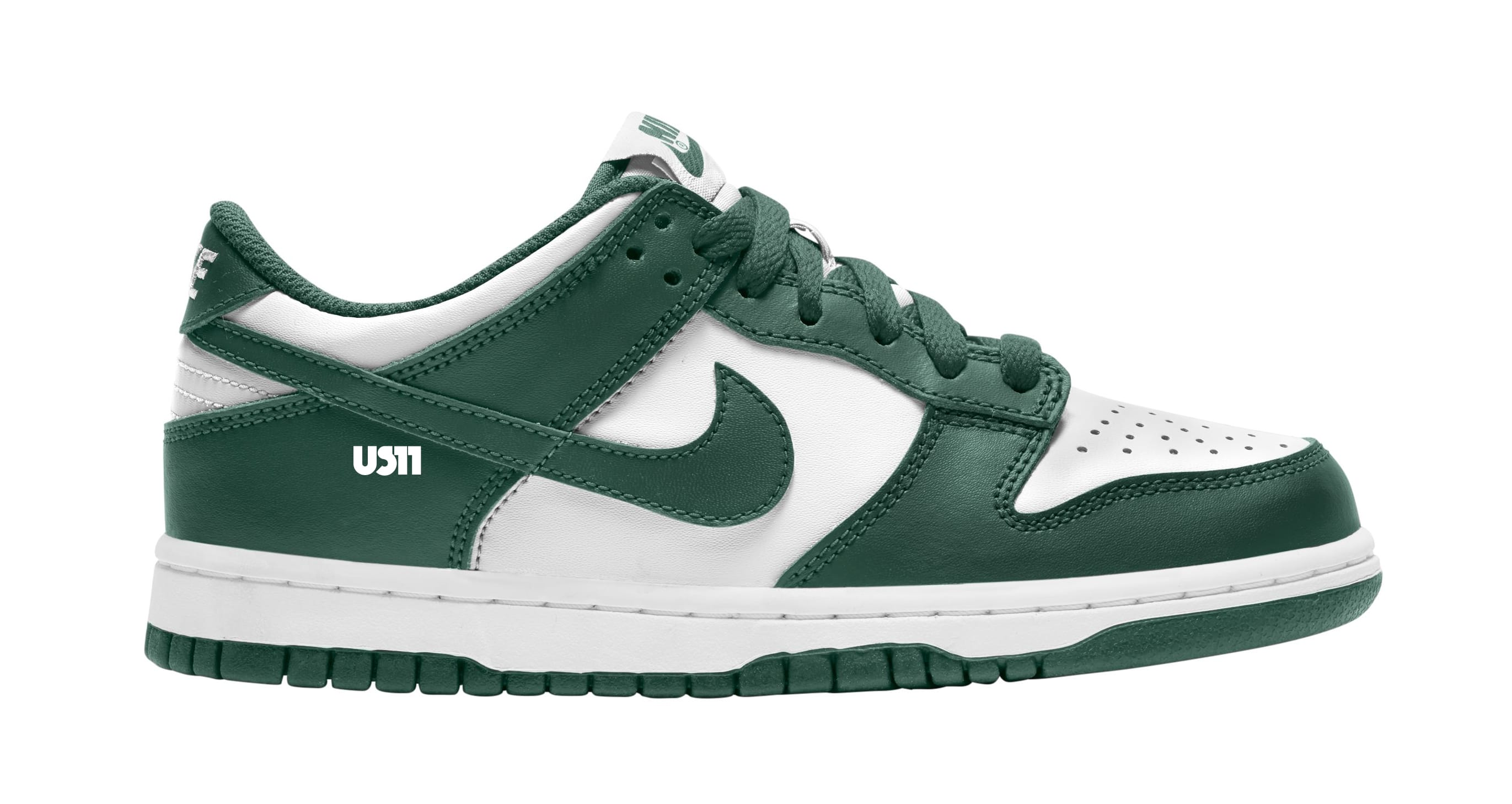 Nike Dunk Low GS White/Green Lateral