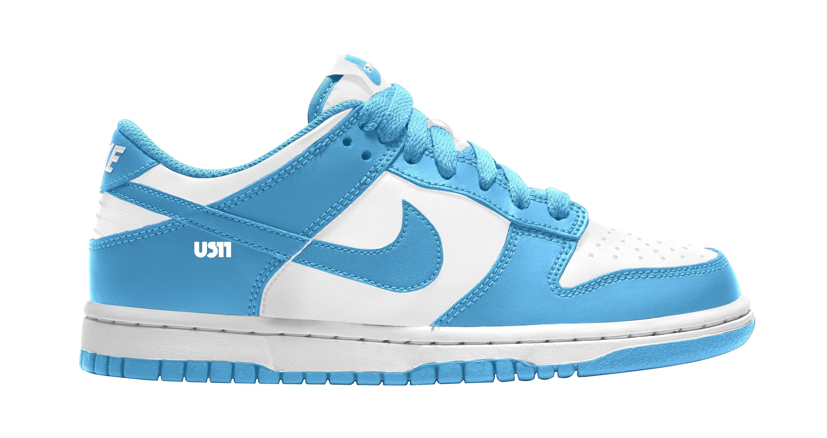 Nike Dunk Low GS White/Blue Lateral