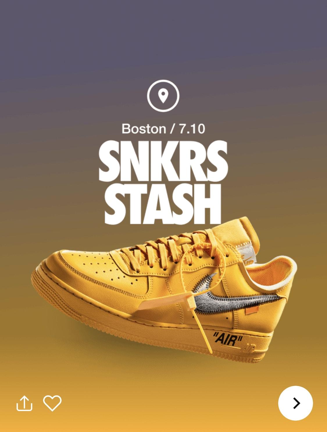 Off-White x Nike Air Force 1 Low 'Lemonade' DD1876-700 SNKRS Stash