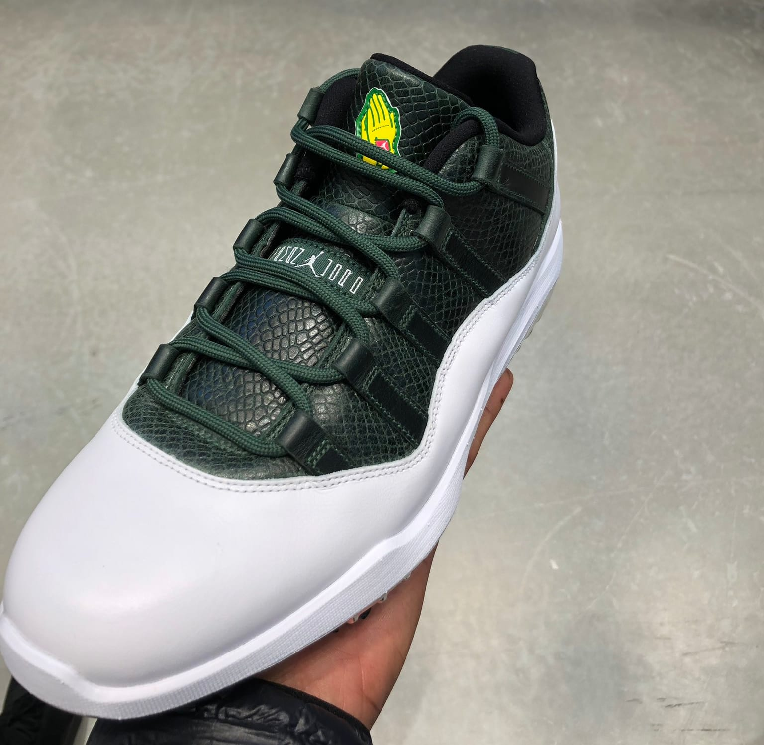 Flipboard jordan brand is celebrating the masters with a special air jordan 11 low for Celebrity sneaker watch sole collector
