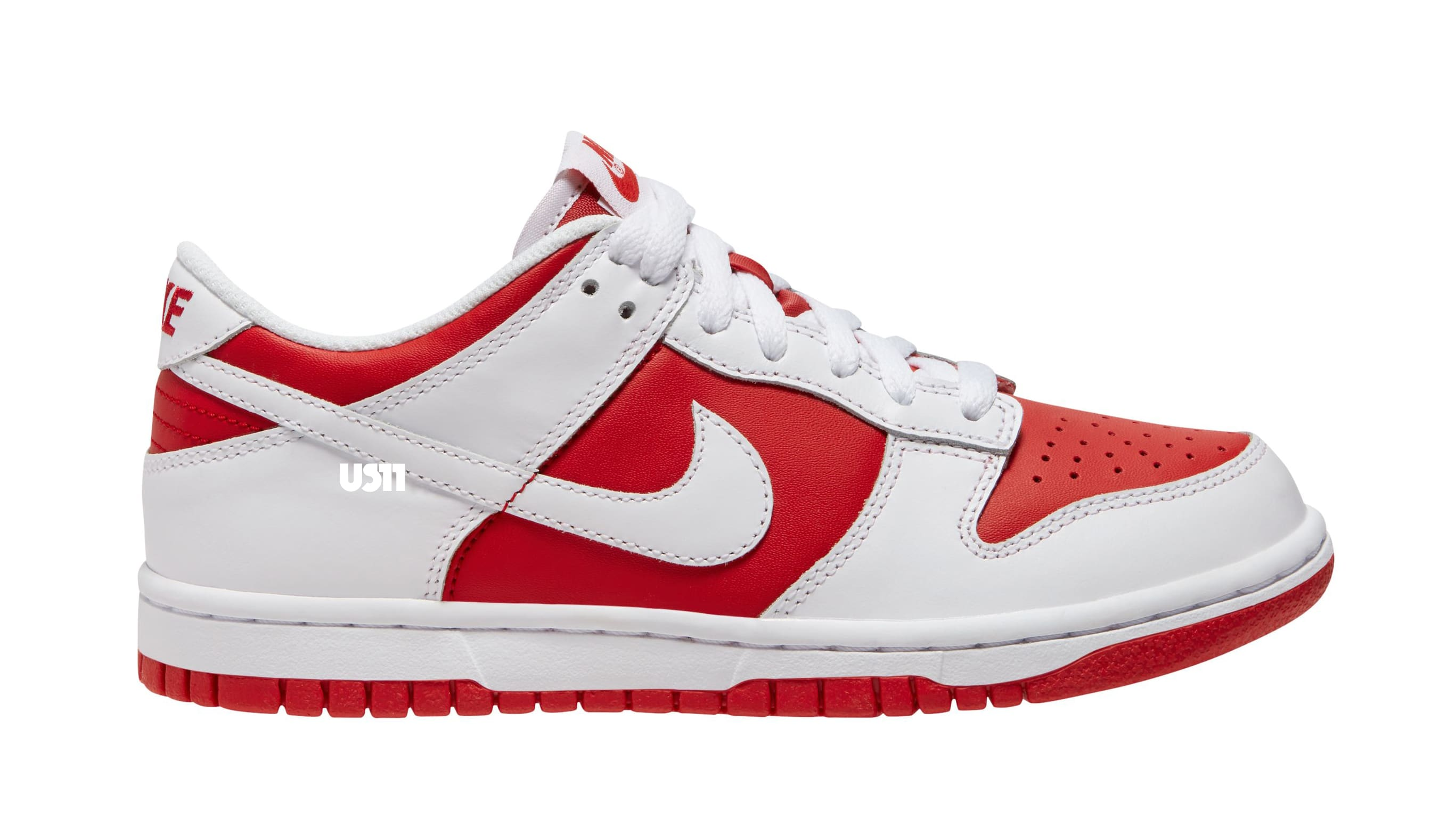Nike Dunk Low GS Red/White Lateral