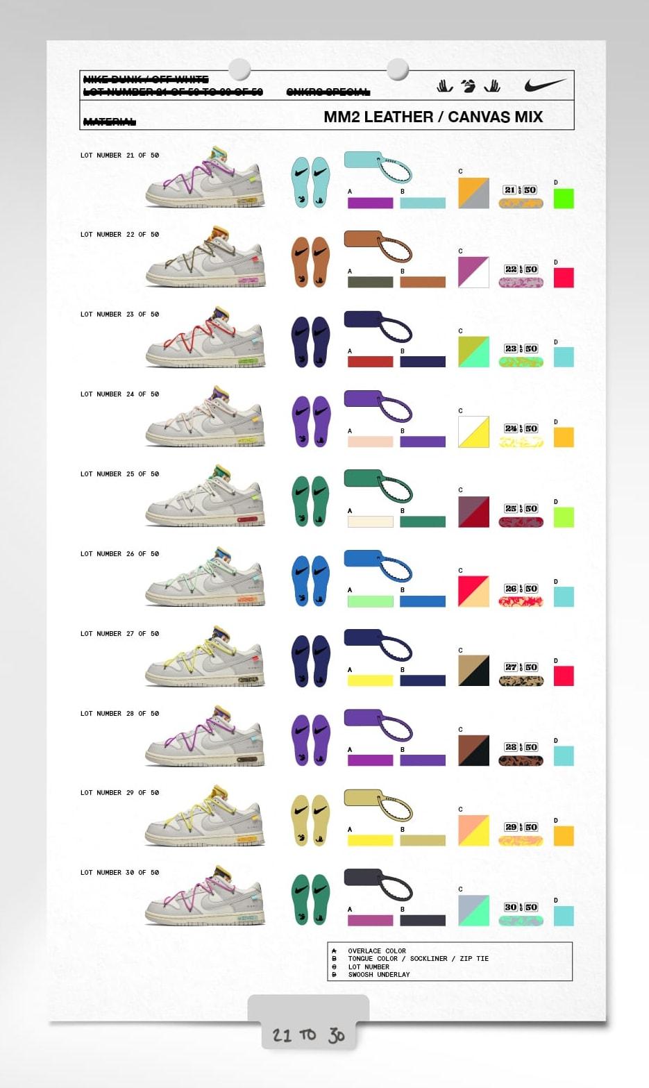 Off-White x Nike Dunk Low 'Dear Summer'