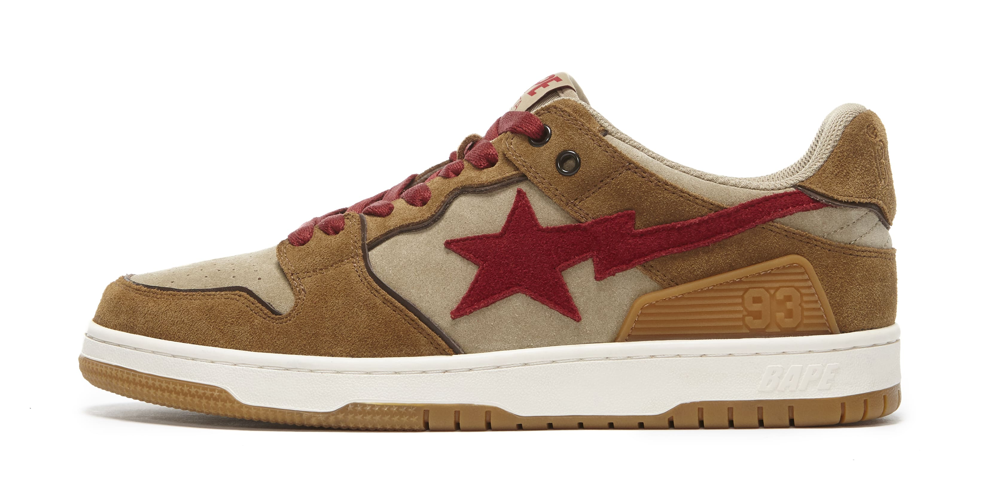 Bape Sk8 Sta Wheat and Red Lateral