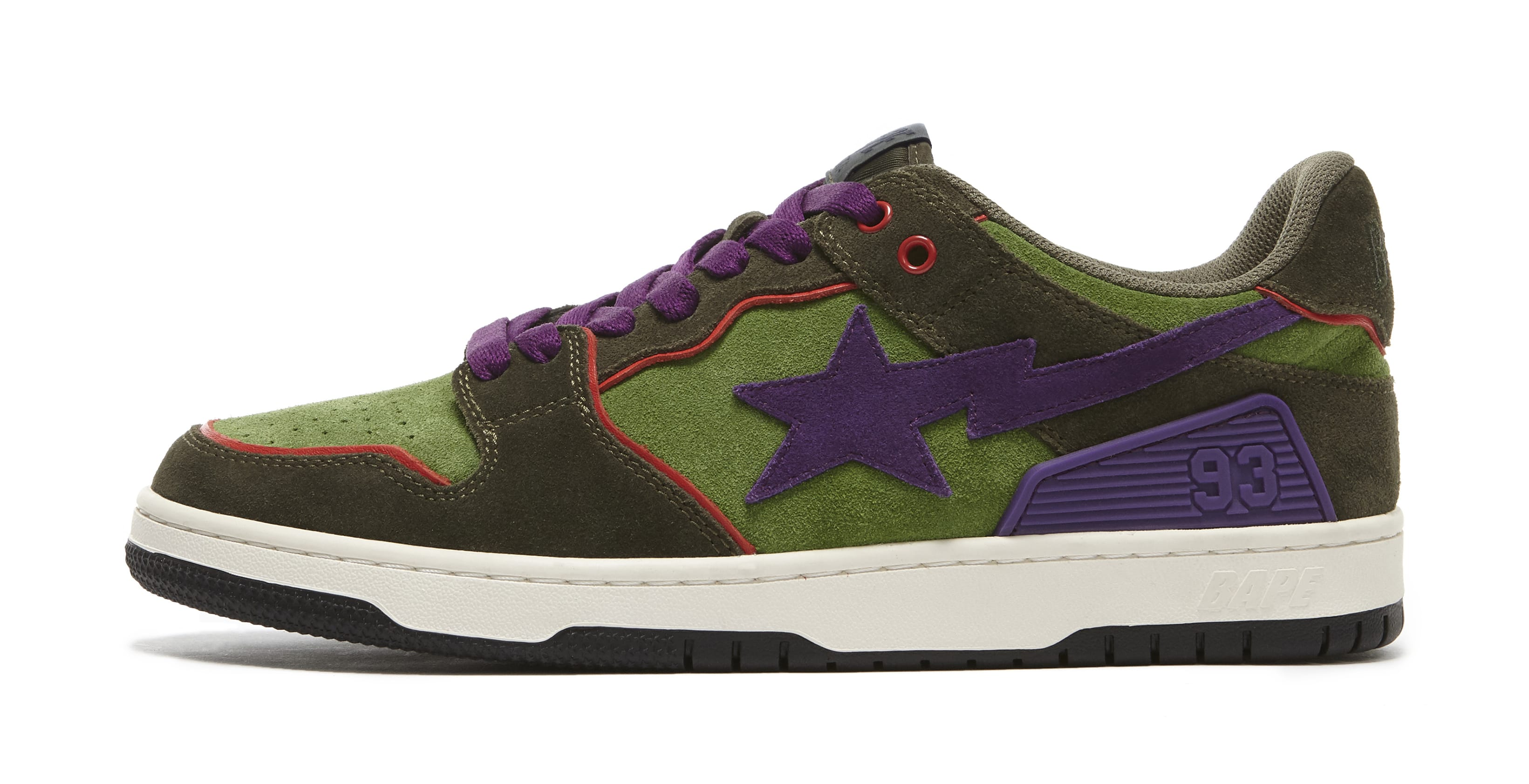 Bape Sk8 Sta Dark Purple and Green Lateral