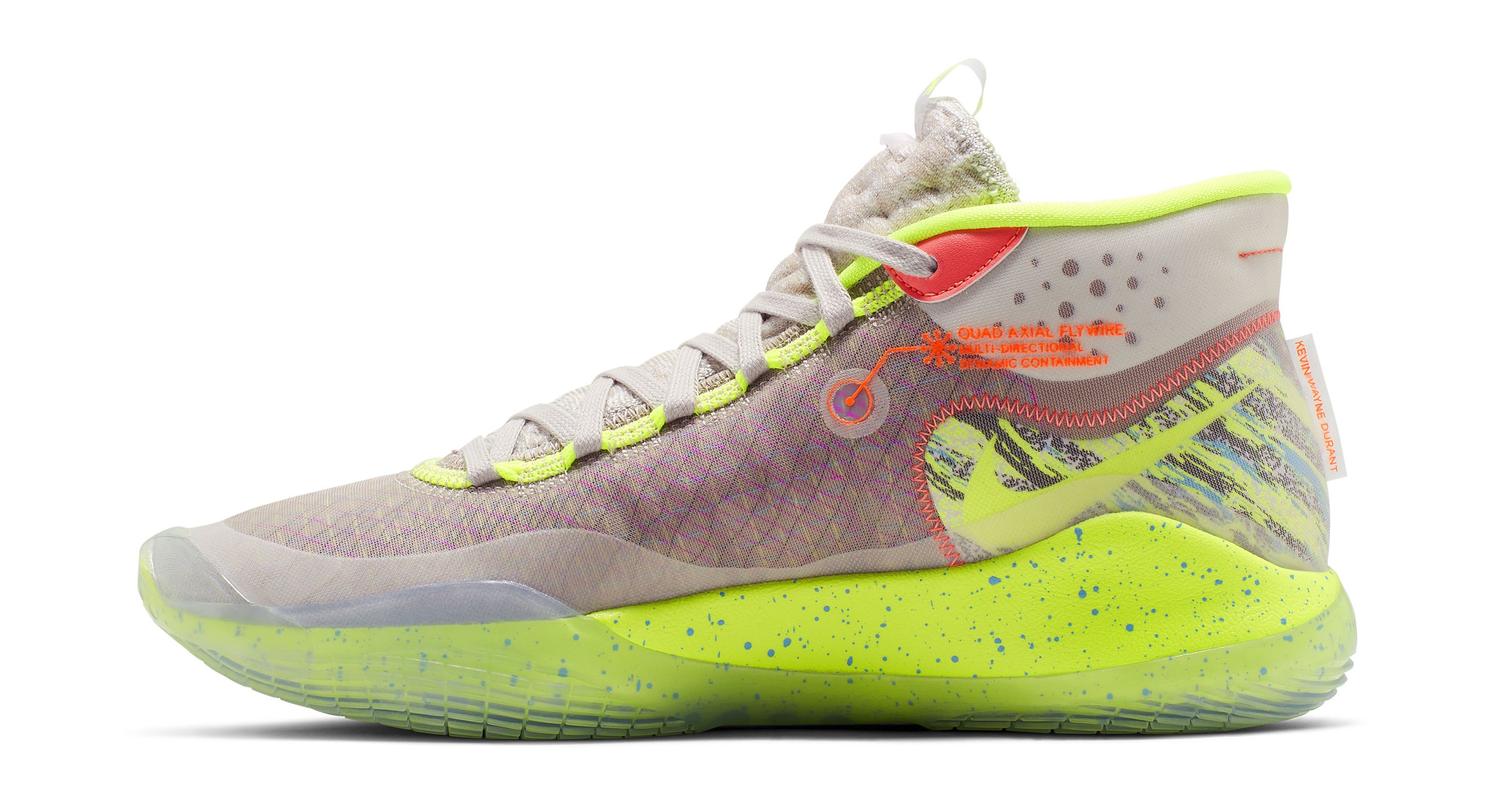 best service 5a18e cd97c Image via Nike Nike KD 12  90s Kid  AR4229-900 (Medial)