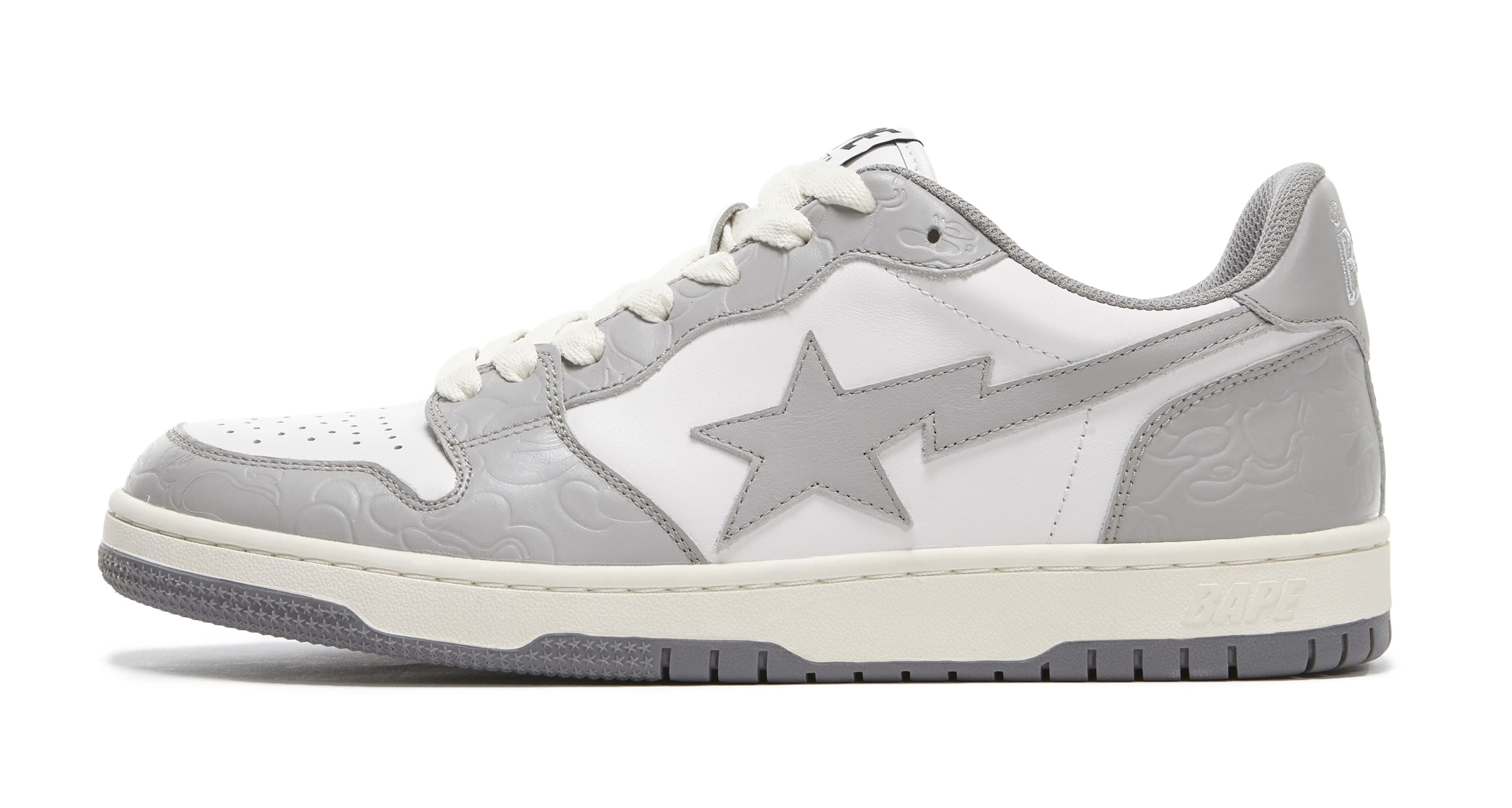 Bape Court Sta Light Grey and Cream Lateral