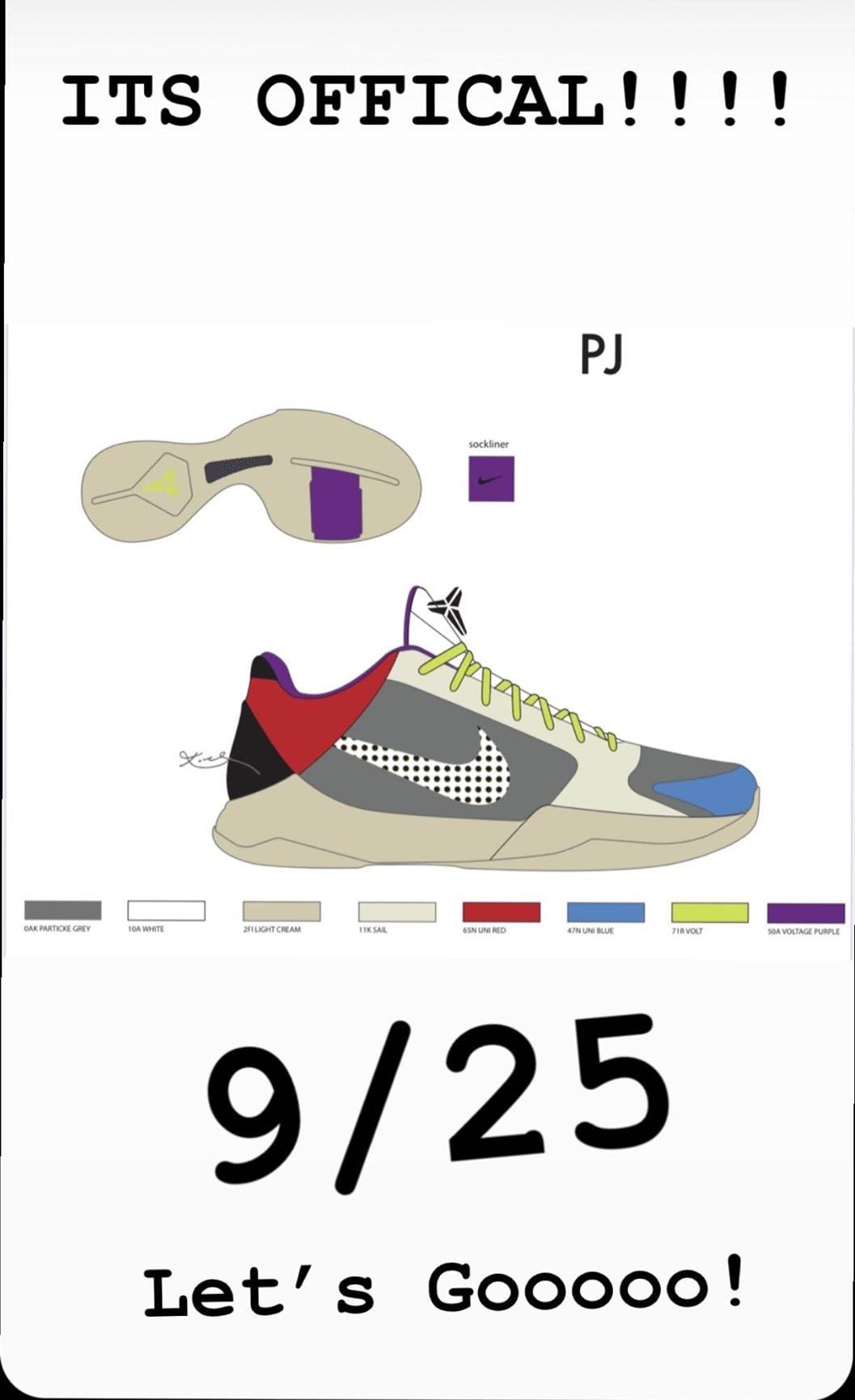 Nike Kobe 5 Protro 'P.J. Tucker PE' CD4991-004 Lateral