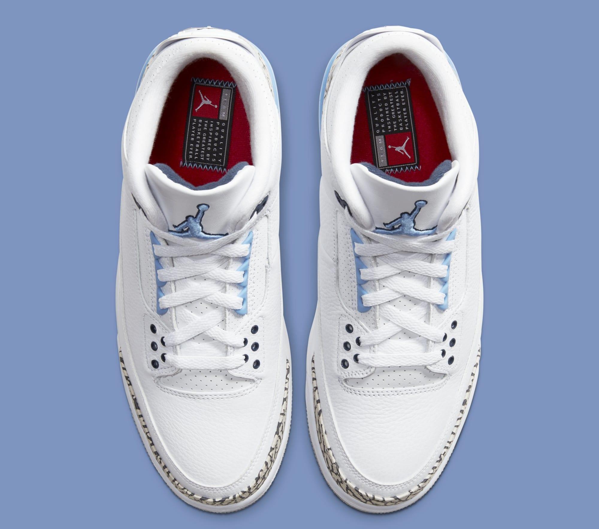 Air Jordan 3 'UNC' CT8532-104 (Top)
