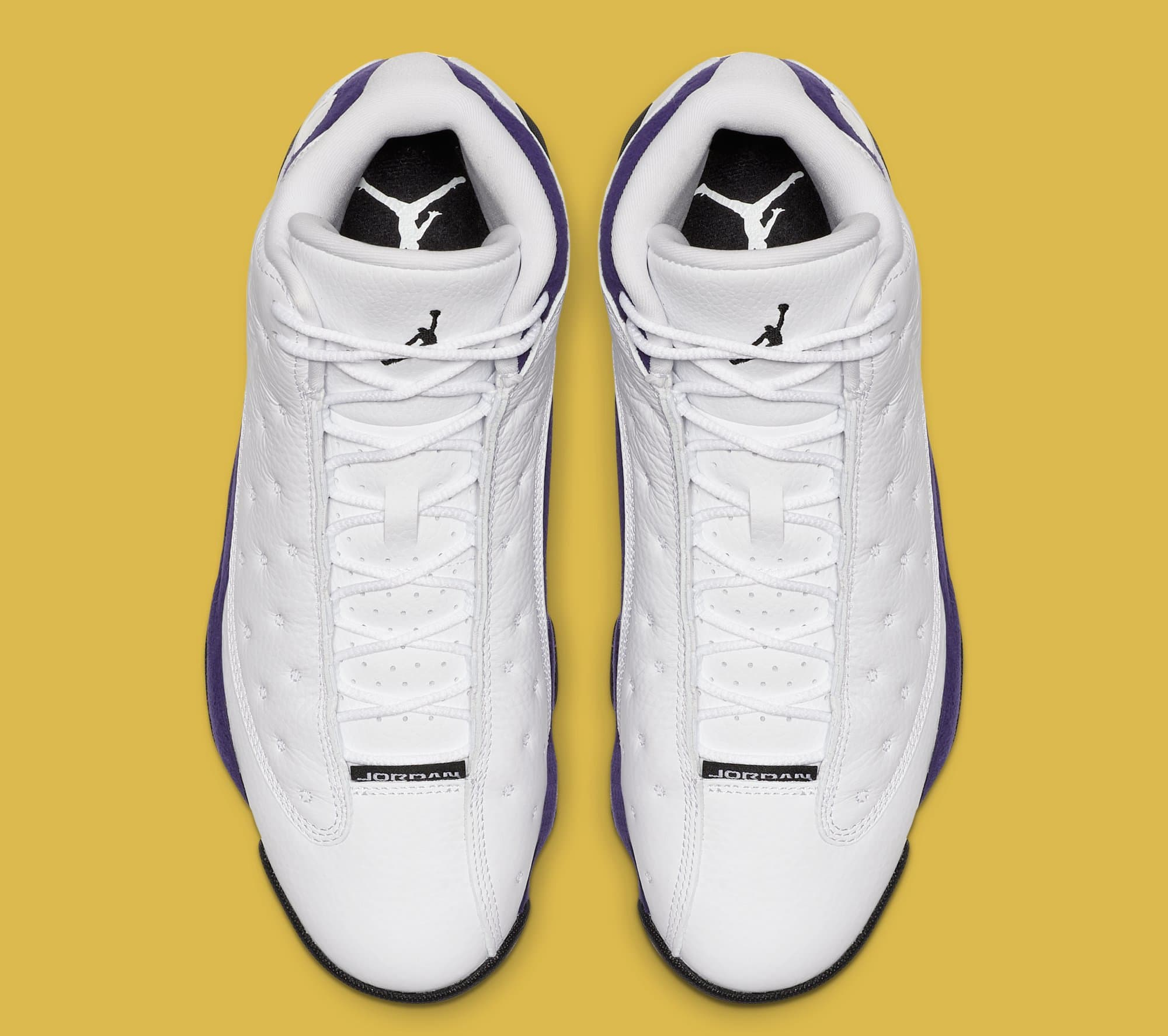 Air Jordan 13 'Lakers' White/Black/Court Purple/University Gold 414571-105 (Top)