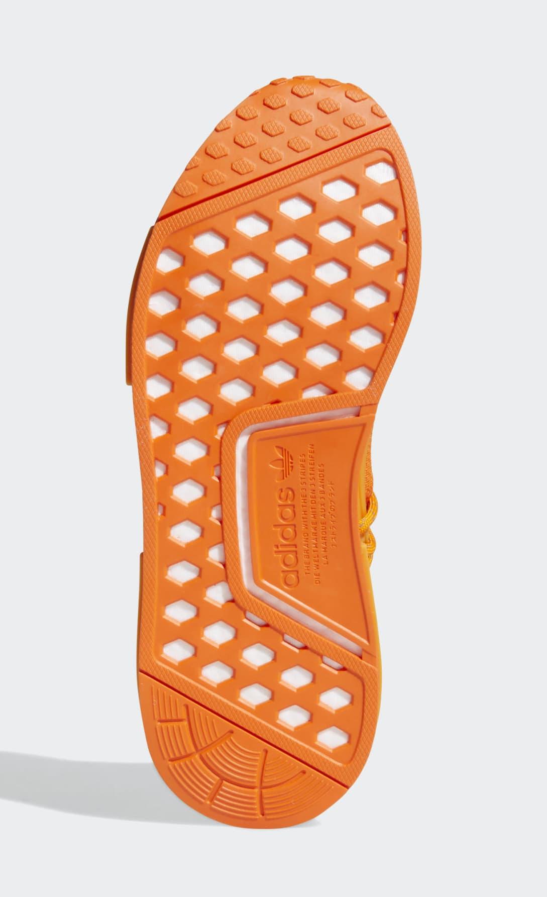 Pharrell x Adidas NMD Hu Orange GY0095 Outsole