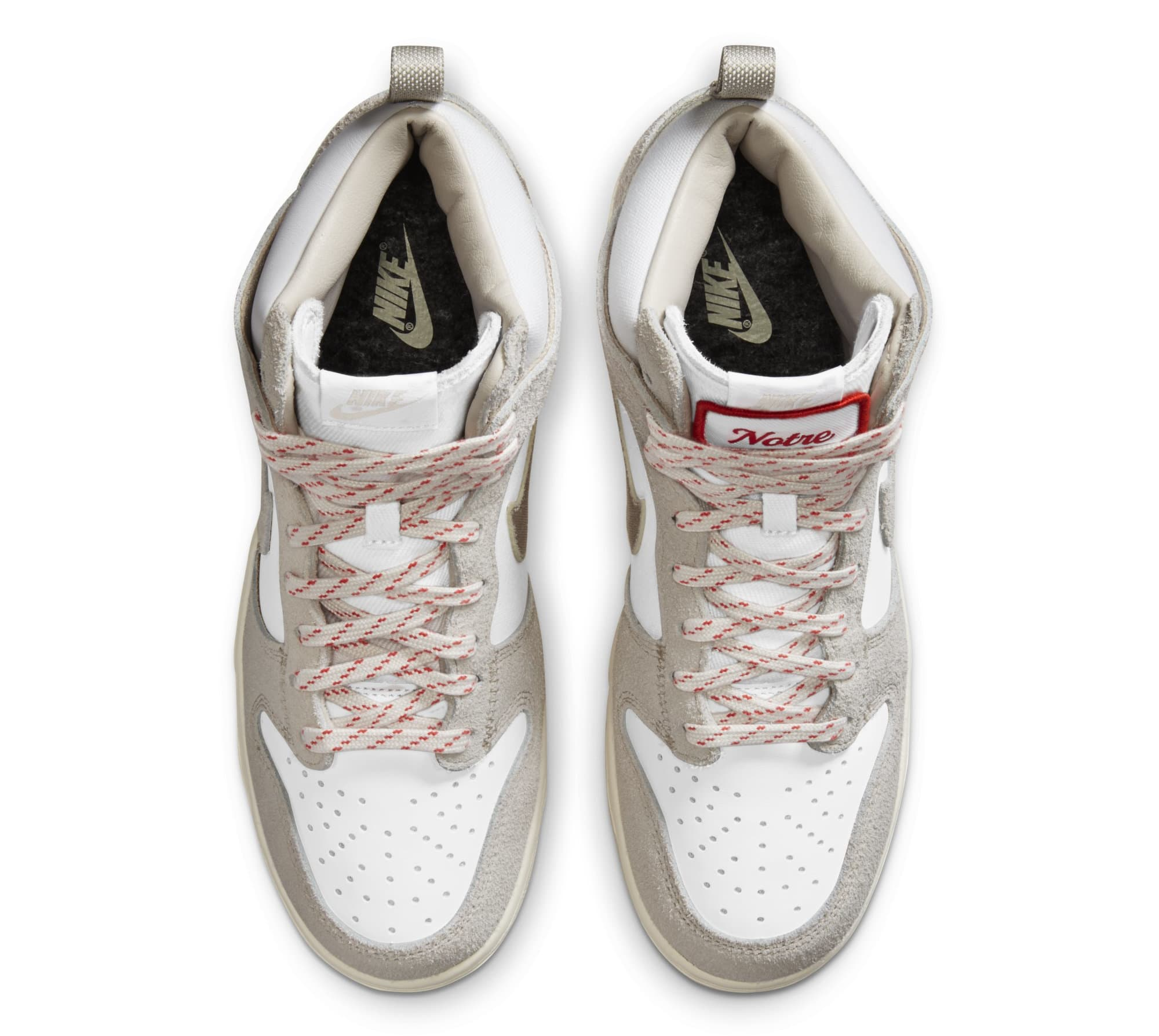 Notre x Nike Dunk High 'Light Orewood Brown/White' (Top)