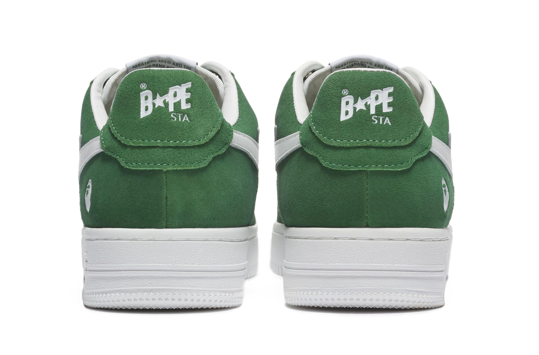 Bape Sta Suede 'Green' Heel