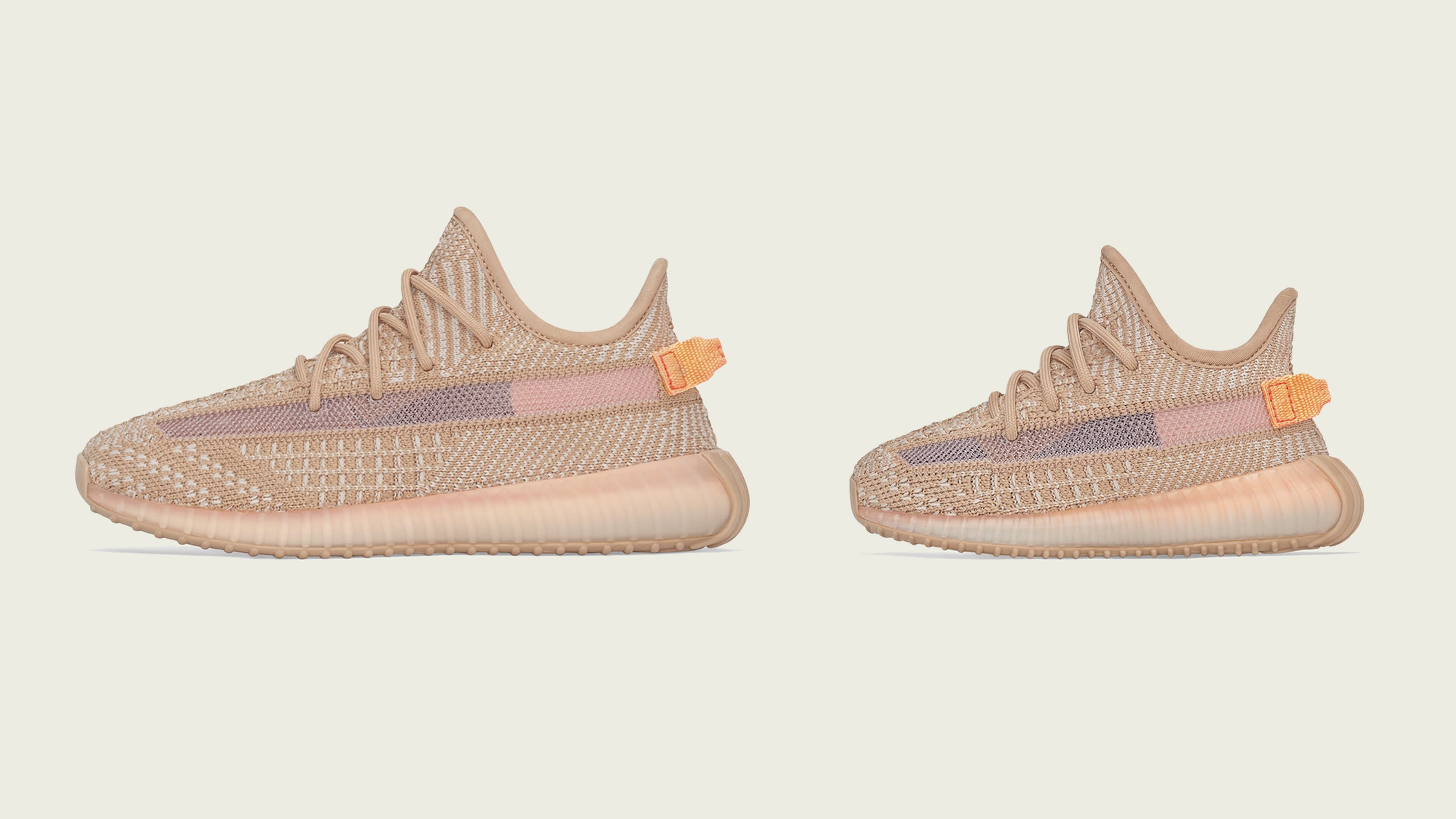 new product 5a7f6 6aee3 Adidas Yeezy Boost 350 V2  Clay  Kids (Lateral)