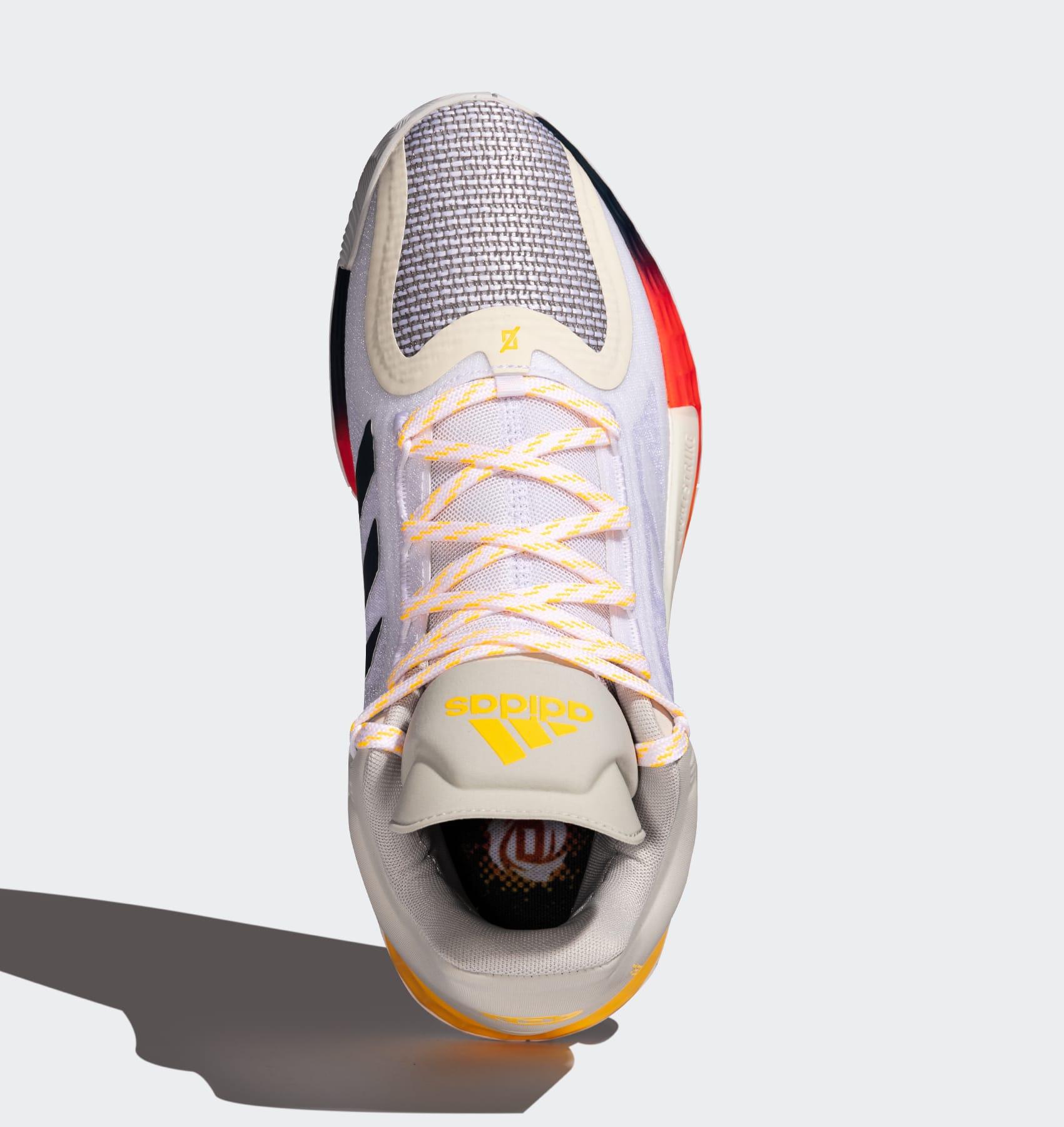 Adidas D Rose 11 'Ftwr White/Solar Gold/Tech Indigo' FW8508 Top