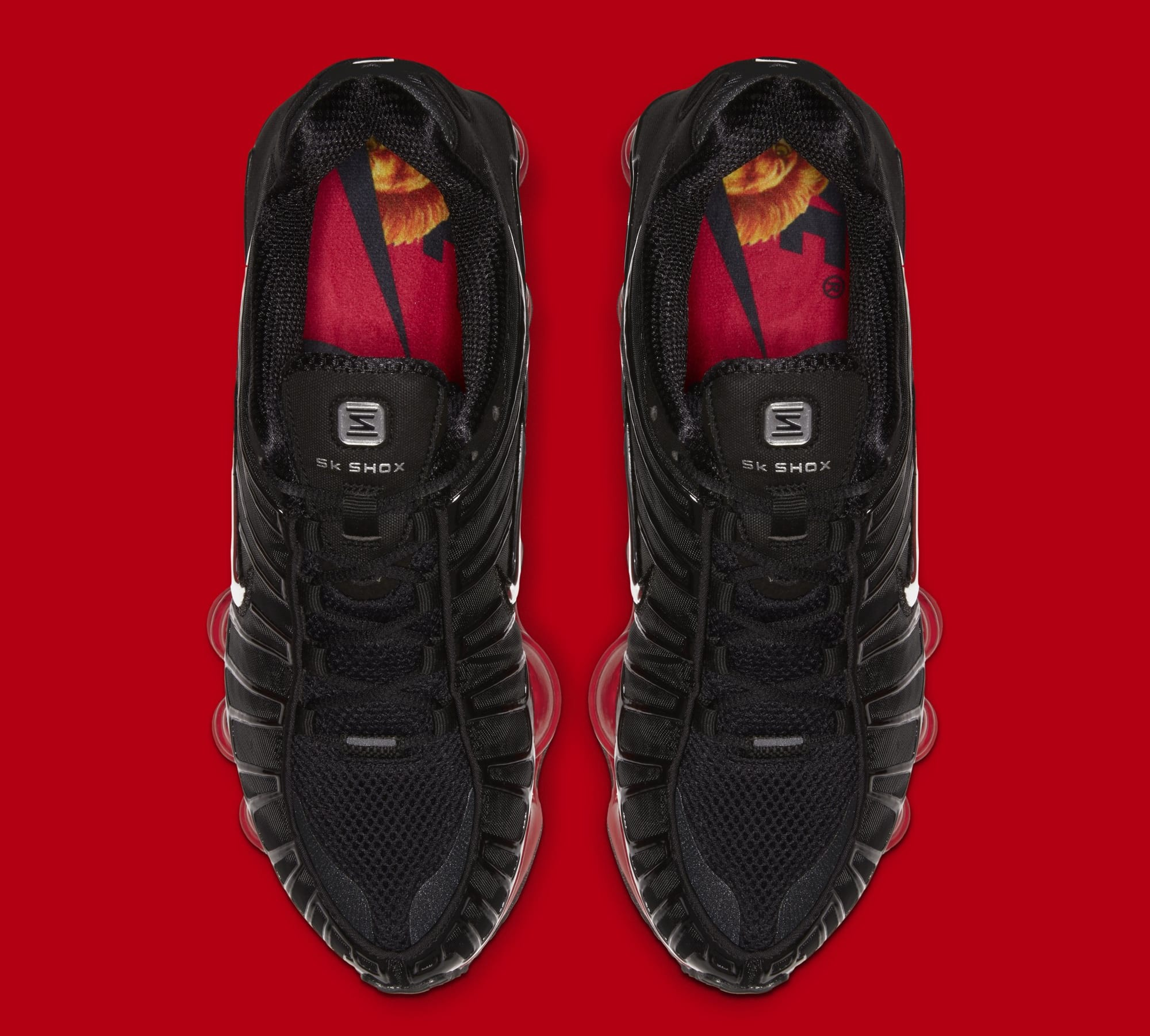 Skepta x Nike Shox TL 'Black/Black/University Red' CI0987-001 (Top)