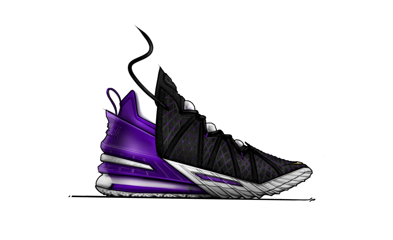 Nike LeBron 18 Sketch Medial
