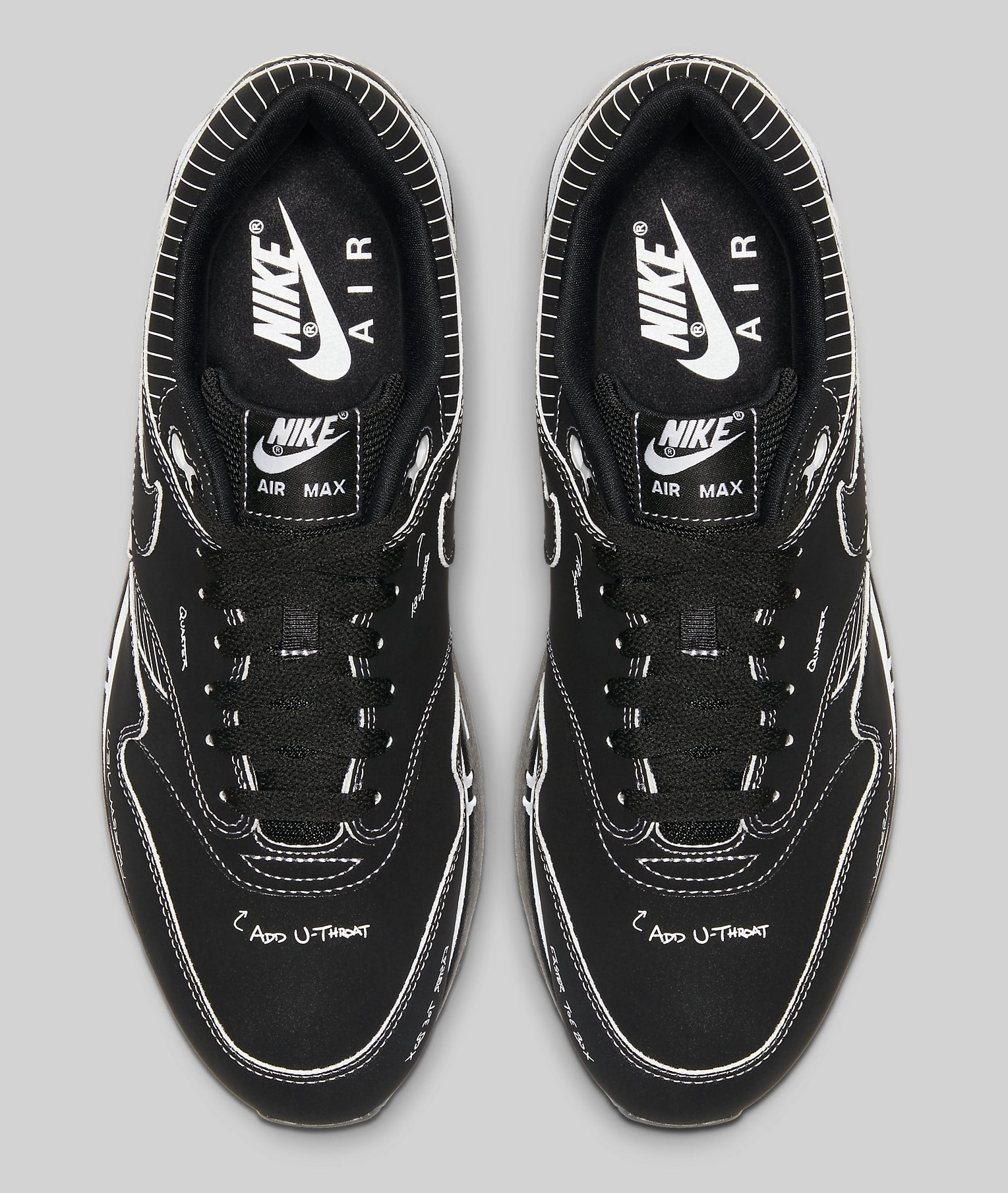 Nike Air Max 1 Black 'Schematic' CJ4286-001 Top