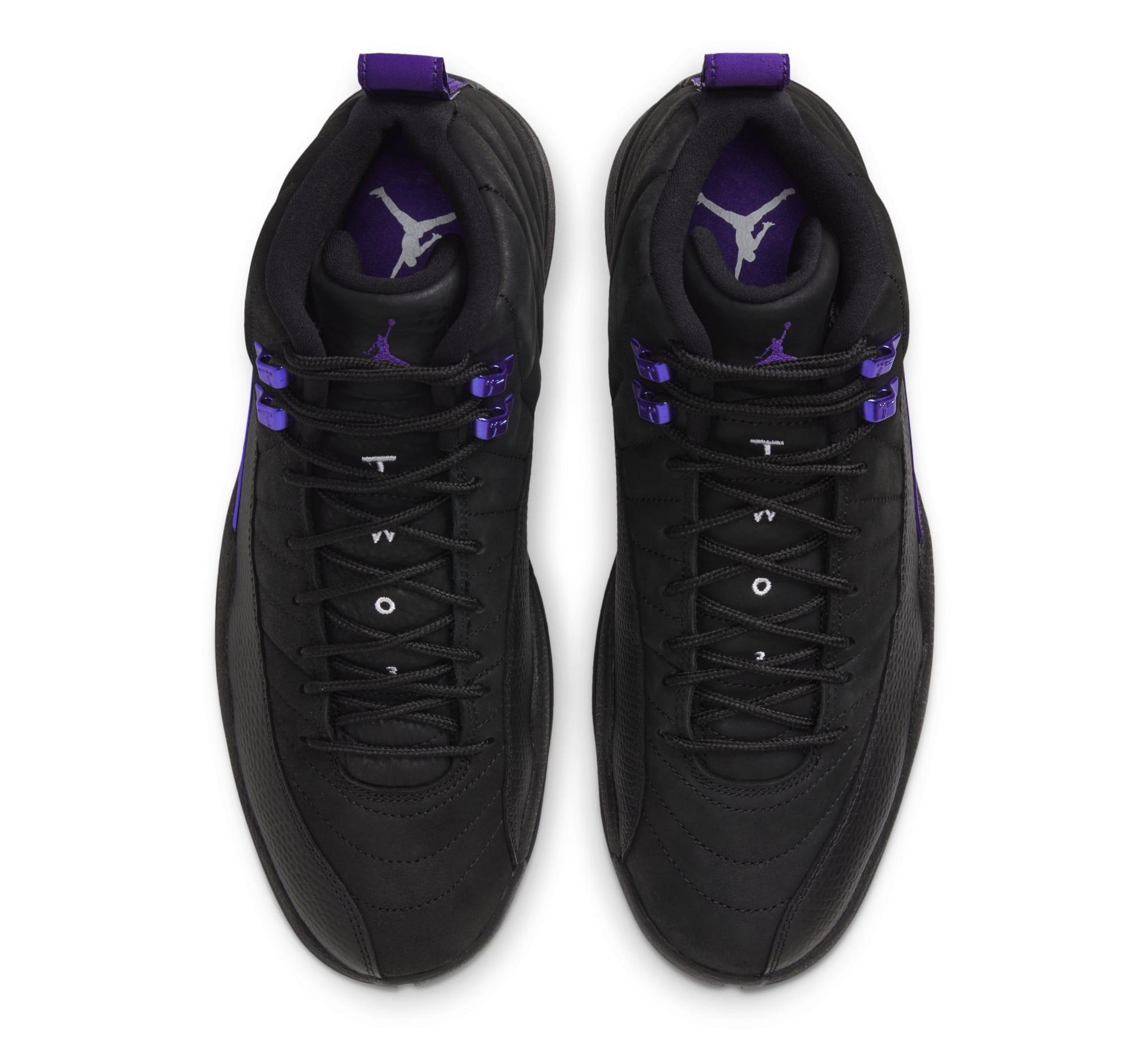 Air Jordan 12 Retro 'Black/Black/Dark Concord' CT8013-005 (Pair)