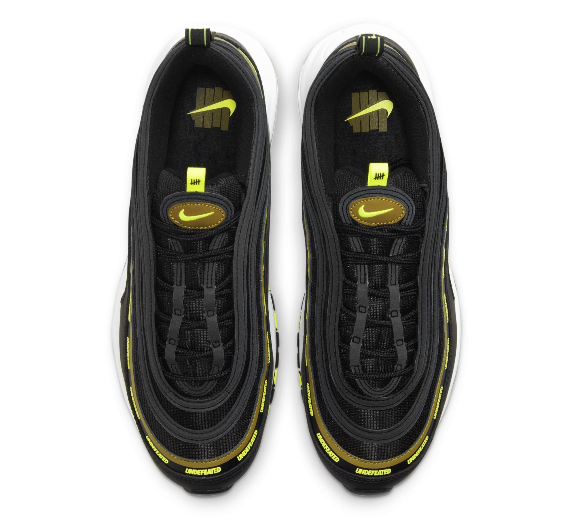 Undefeated x Nike Air Max 97 'Black/Volt' DC4830-001 (Top)