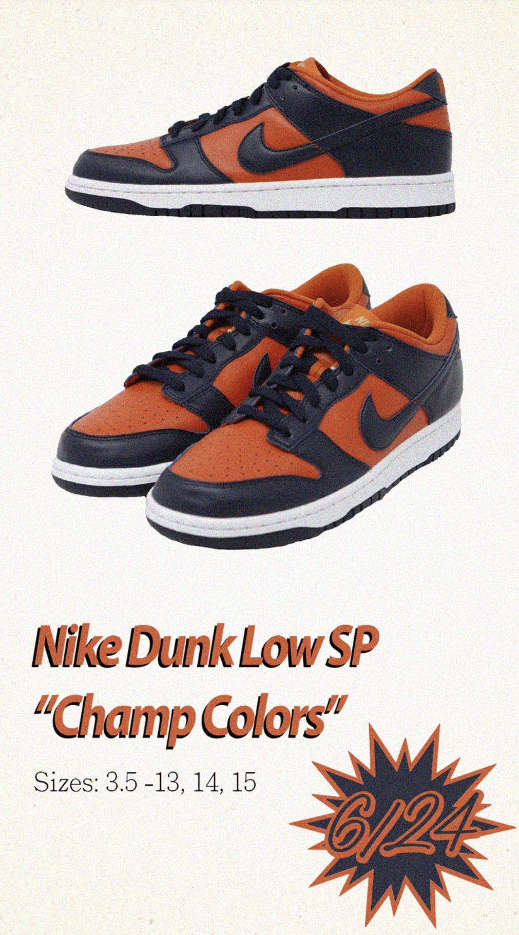 Nike Dunk Low SP 'Champ Colors' SNKRS Release Date