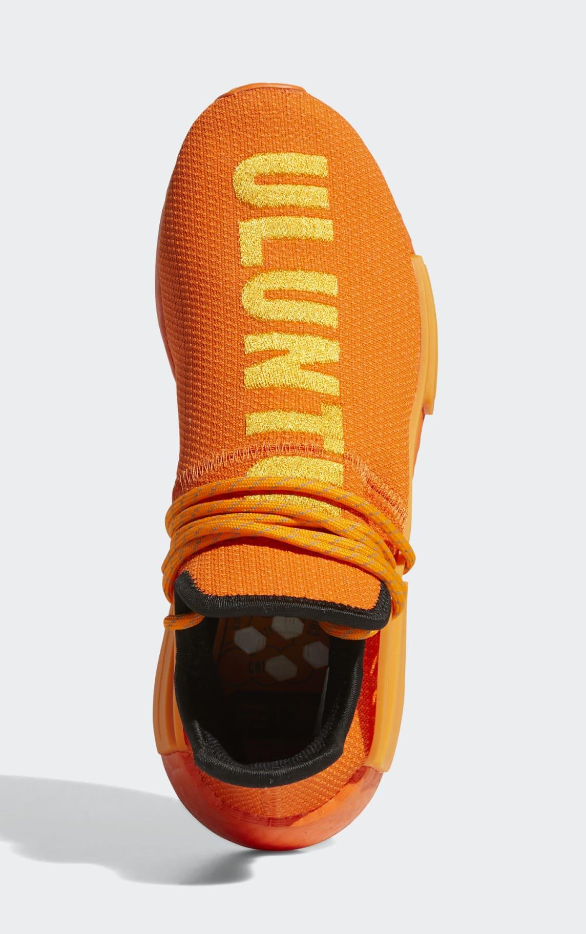 Pharrell x Adidas NMD Hu Orange GY0095 Top
