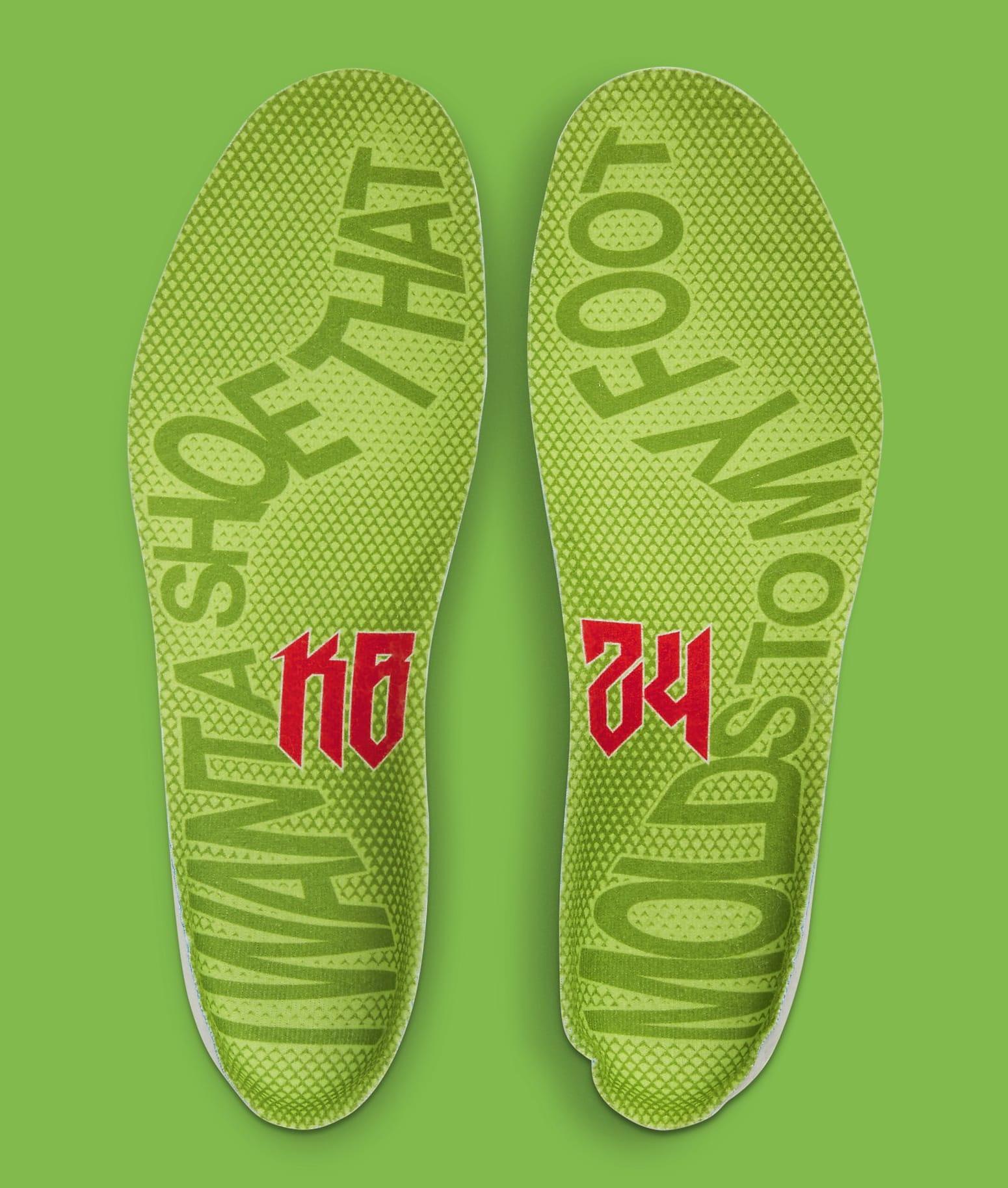 Nike Kobe 6 Protro 'Grinch' CW2190-300 Footbed