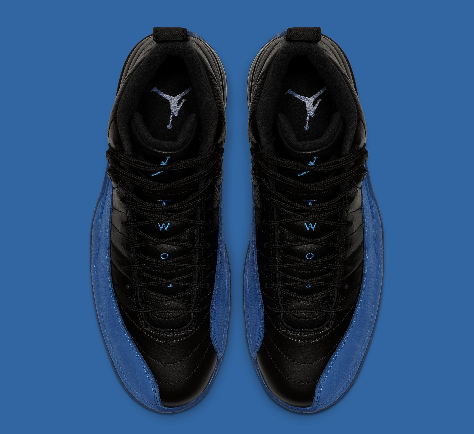 NIKE AIR JORDAN SPORTSWEAR BRAND 5 TEE BLACK GAME ROYAL