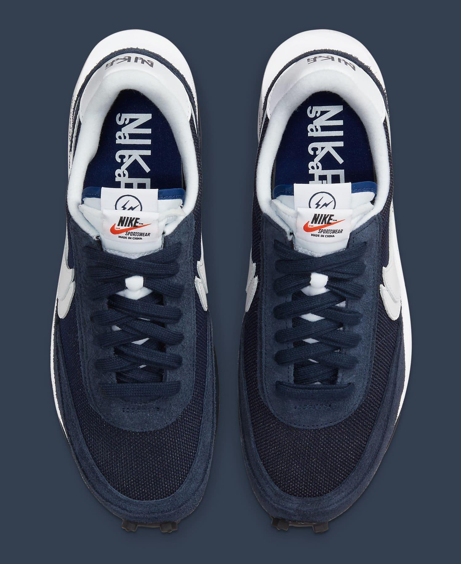 Fragment x Sacai x Nike LDWaffle 'Blackened Blue' DH2684-400 Top