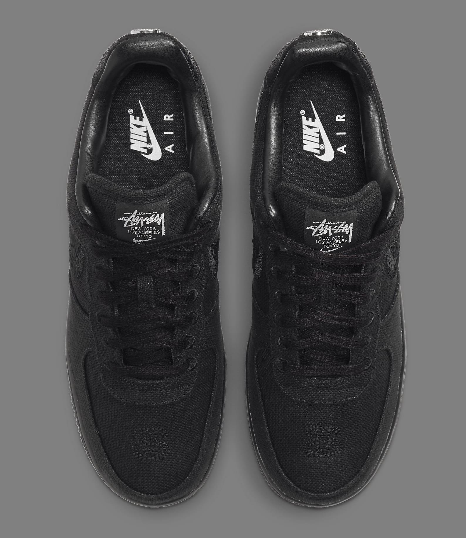 Stussy x Nike Air Force 1 Low 'Black' CZ9084-001 Top