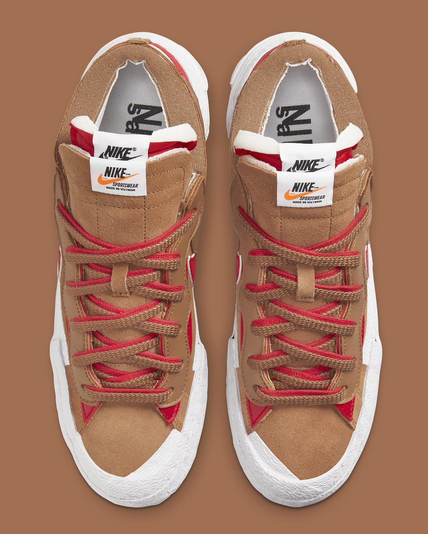 Sacai x Nike Blazer Low 'British Tan' DD1877-200 Top
