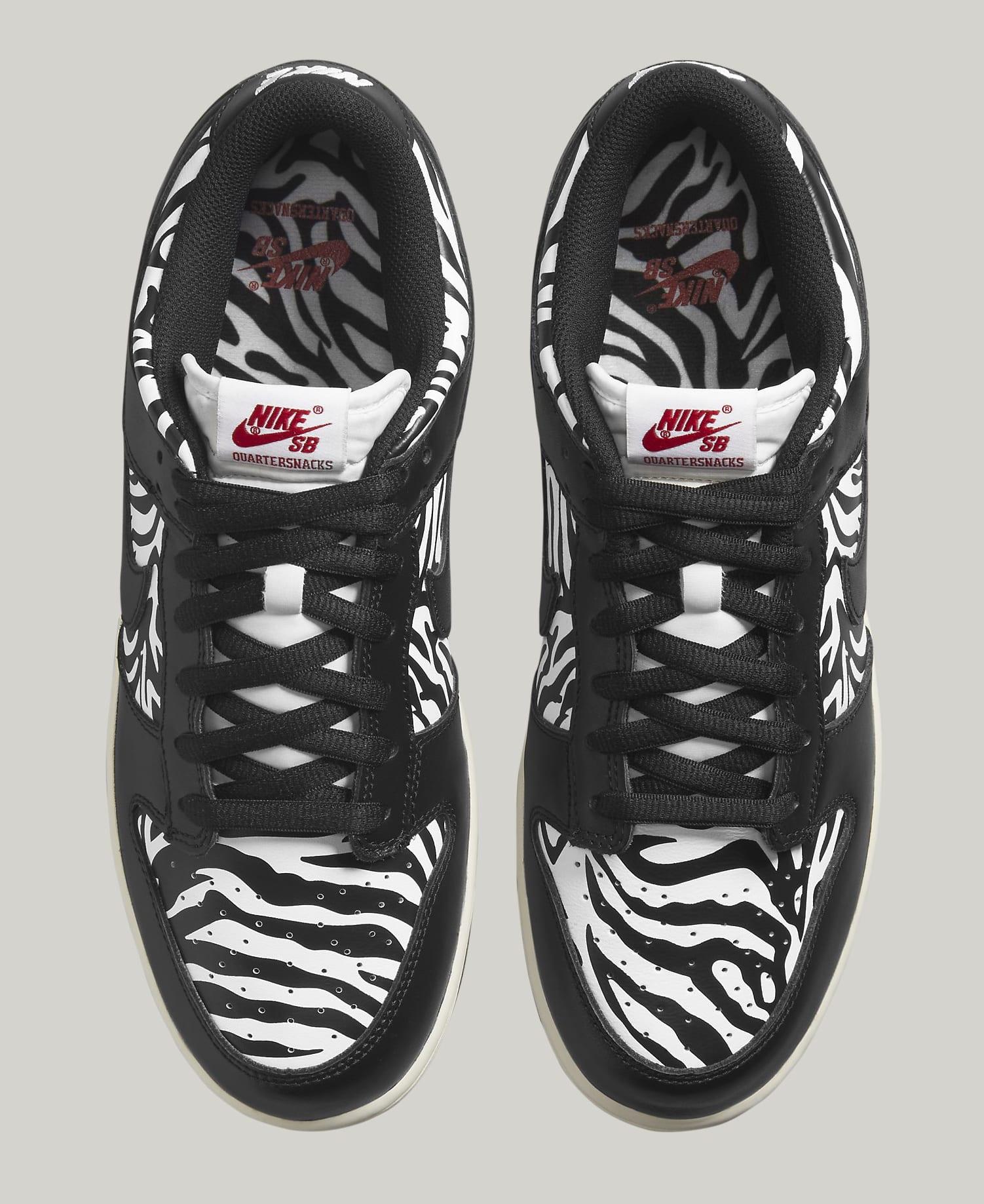 Quartersnacks x Nike SB Dunk Low DM3510-001 Top