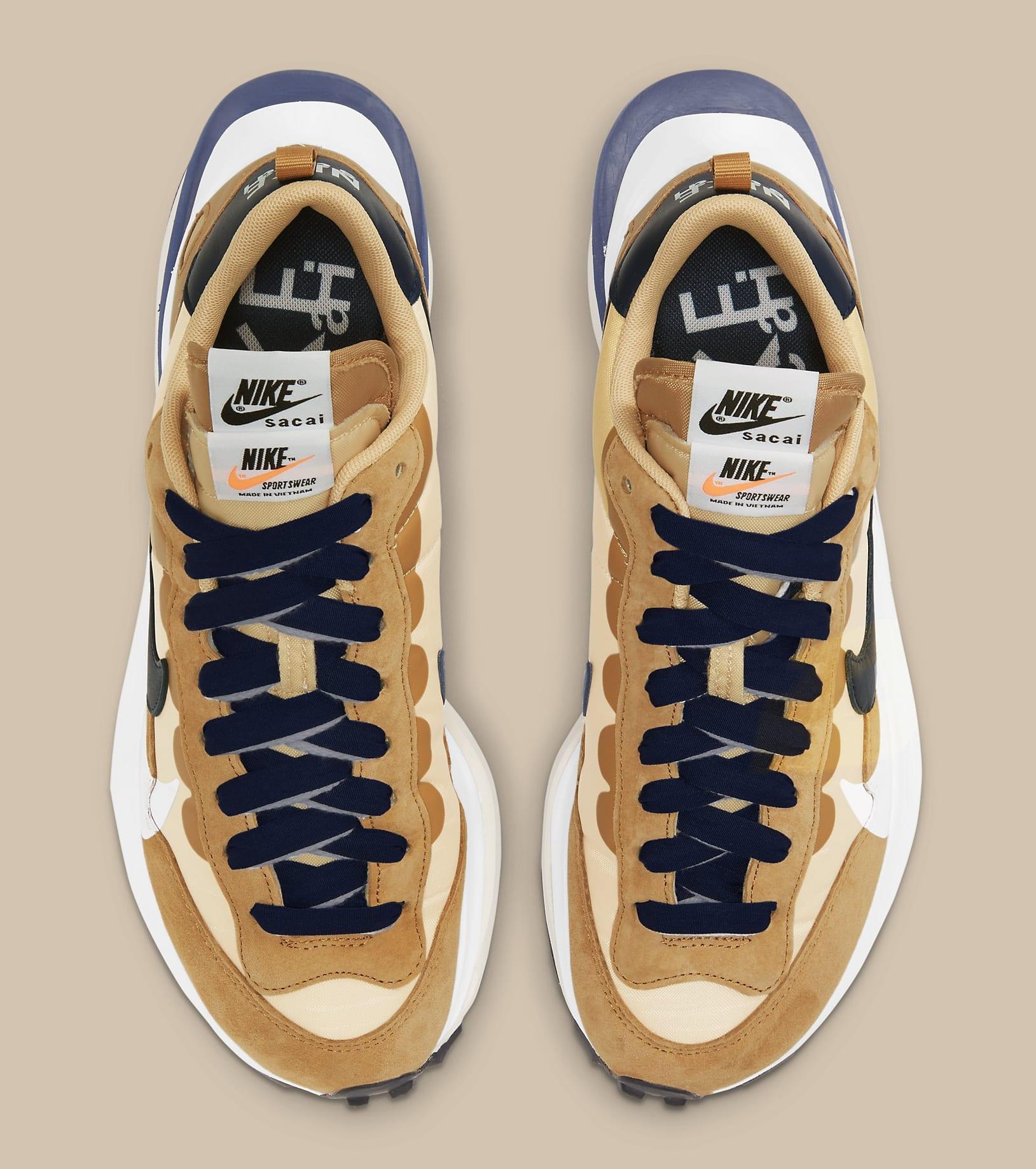 Sacai x Nike VaporWaffle 'Sesame/Blue Void' DD1875-200 Top