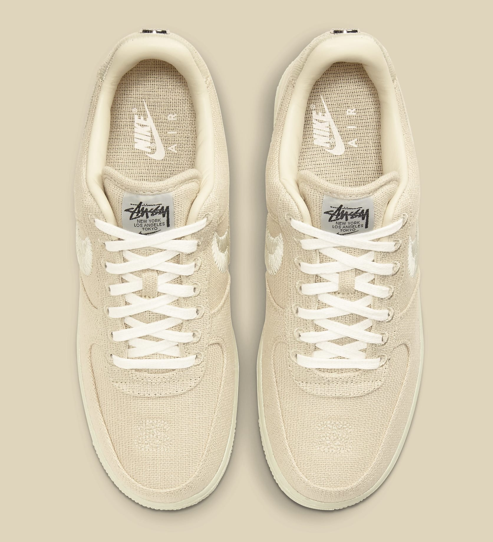 Stussy x Nike Air Force 1 Low 'Fossil Stone' CZ9084-200 Top