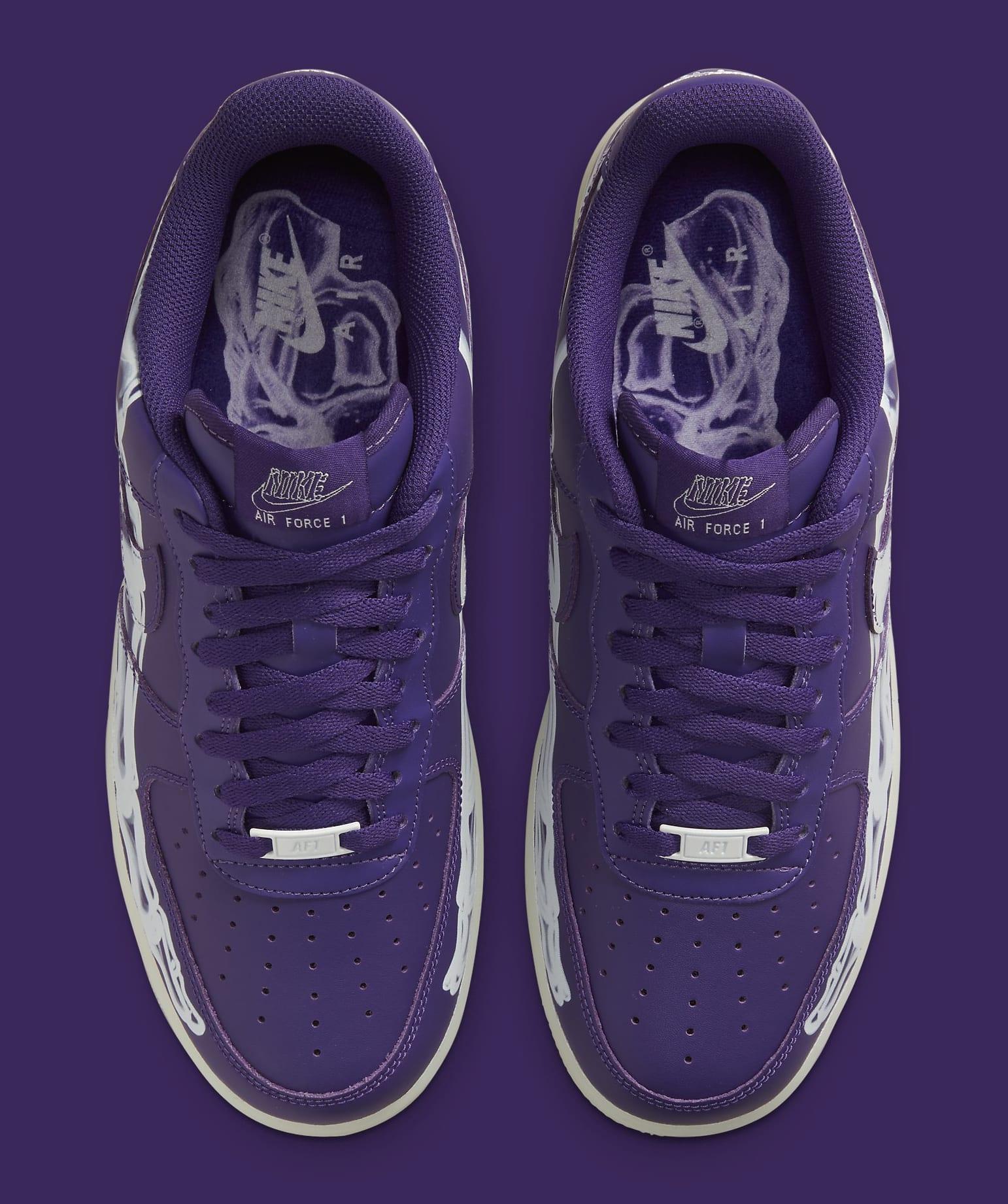 Nike Air Force 1 Low 'Purple Skeleton' CU8067-500 Top