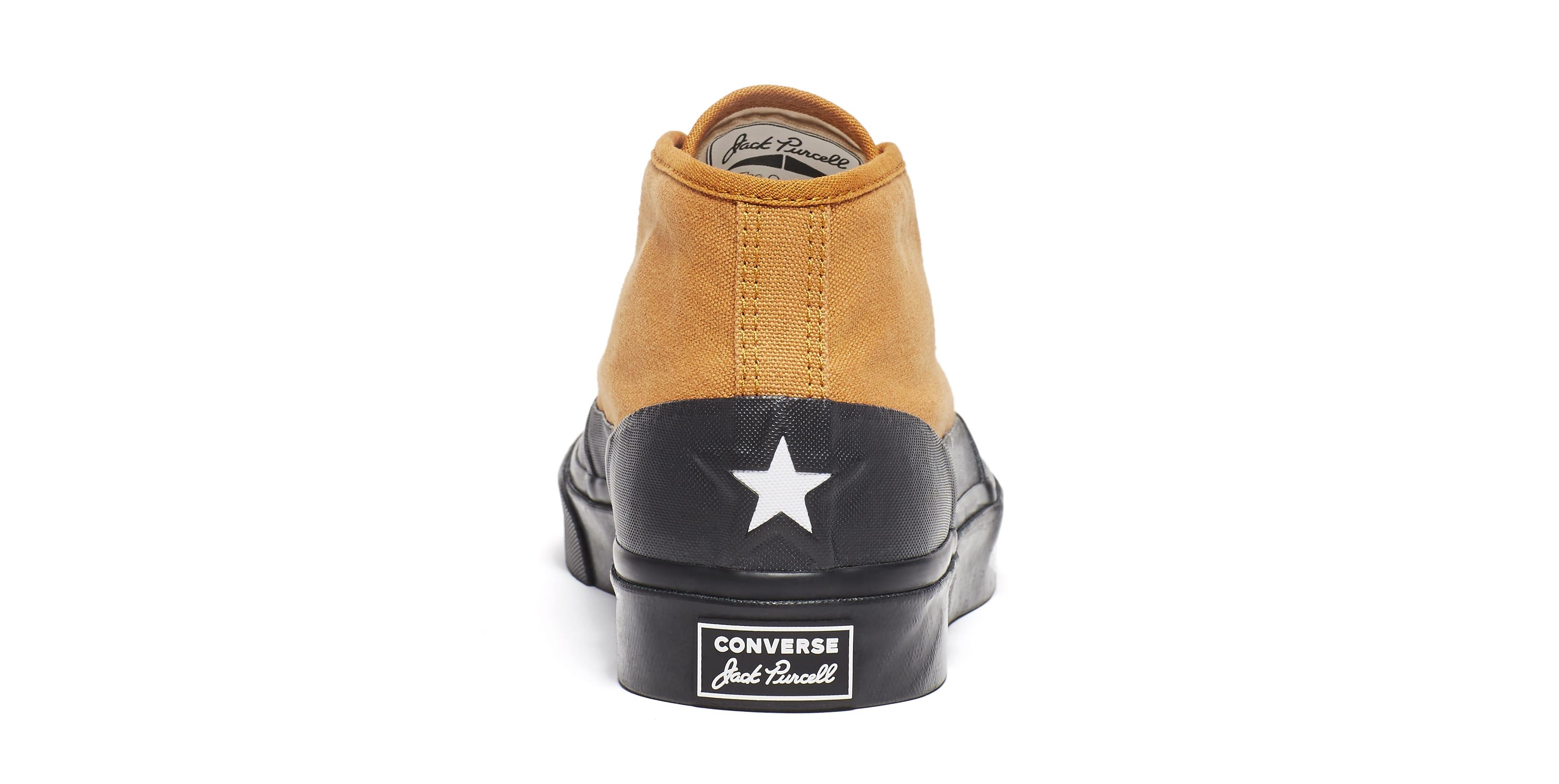 ASAP Nast x Converse Jack Purcell Chukka Mid 'Pumpkin Spice' 164664C (Heel)