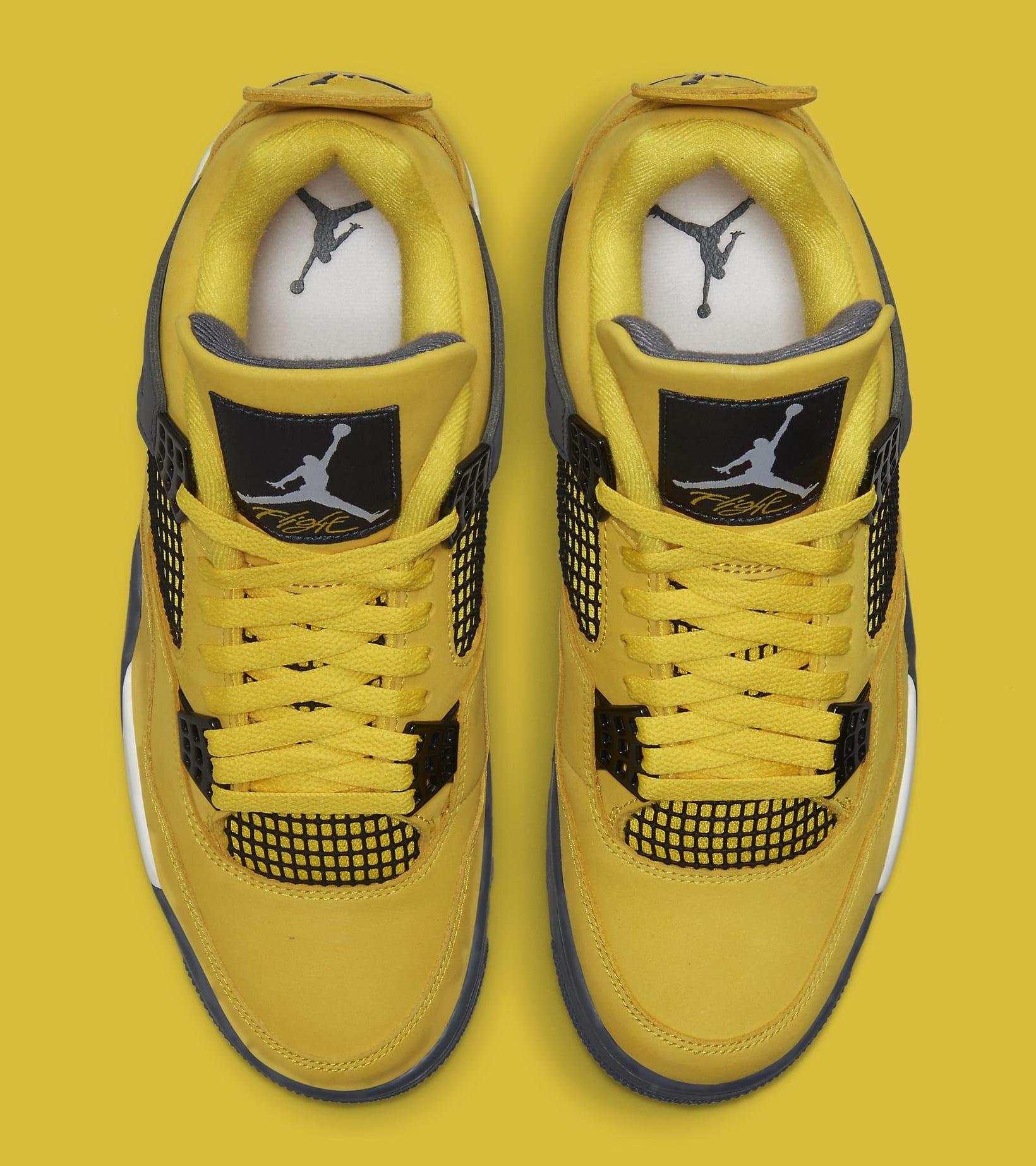 Air Jordan 4 Retro 'Lightning' CT8527-700 Top