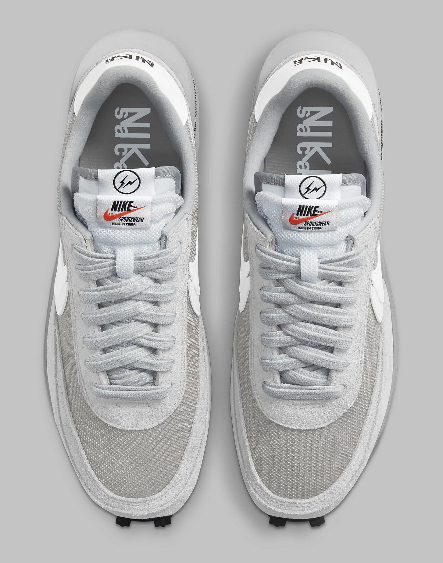 Fragment x Sacai x Nike LDWaffle 'Light Smoke Grey' DH2684-001 Top