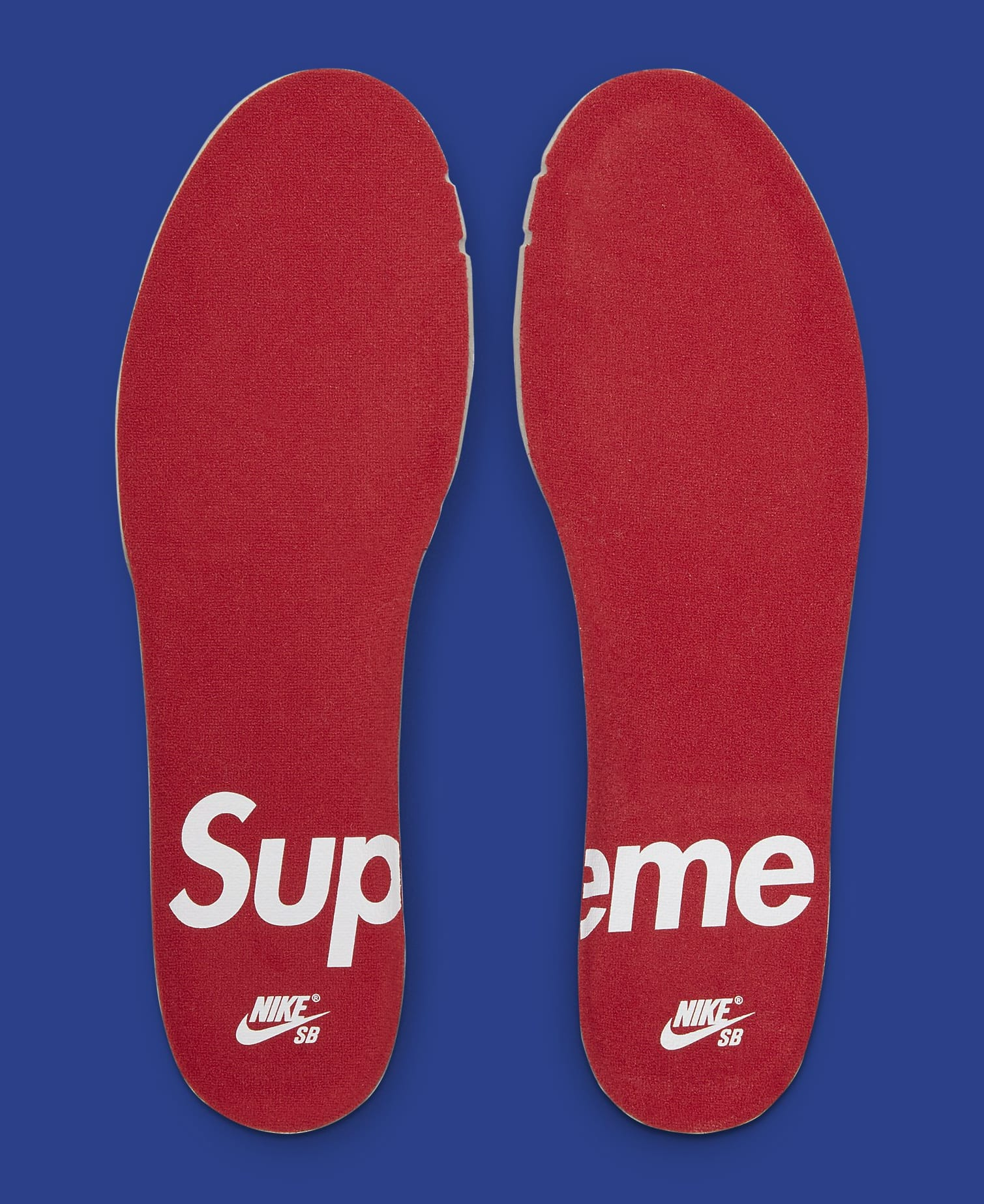 Supreme x Nike SB Dunk Low 'Hyper Royal' DH3228-100 Insole