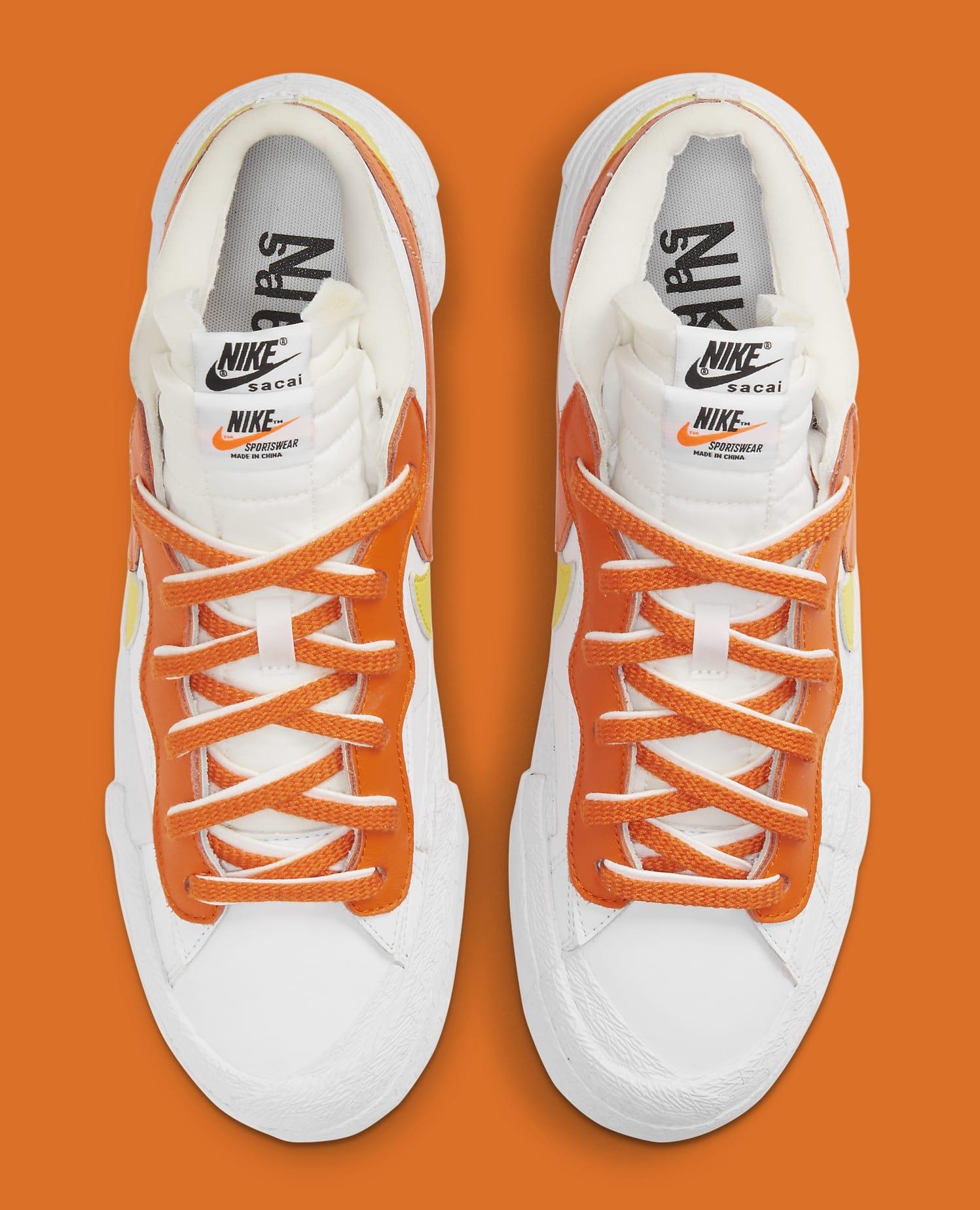 Sacai x Nike Blazer Low 'Magma Orange' DD1877-100 Top