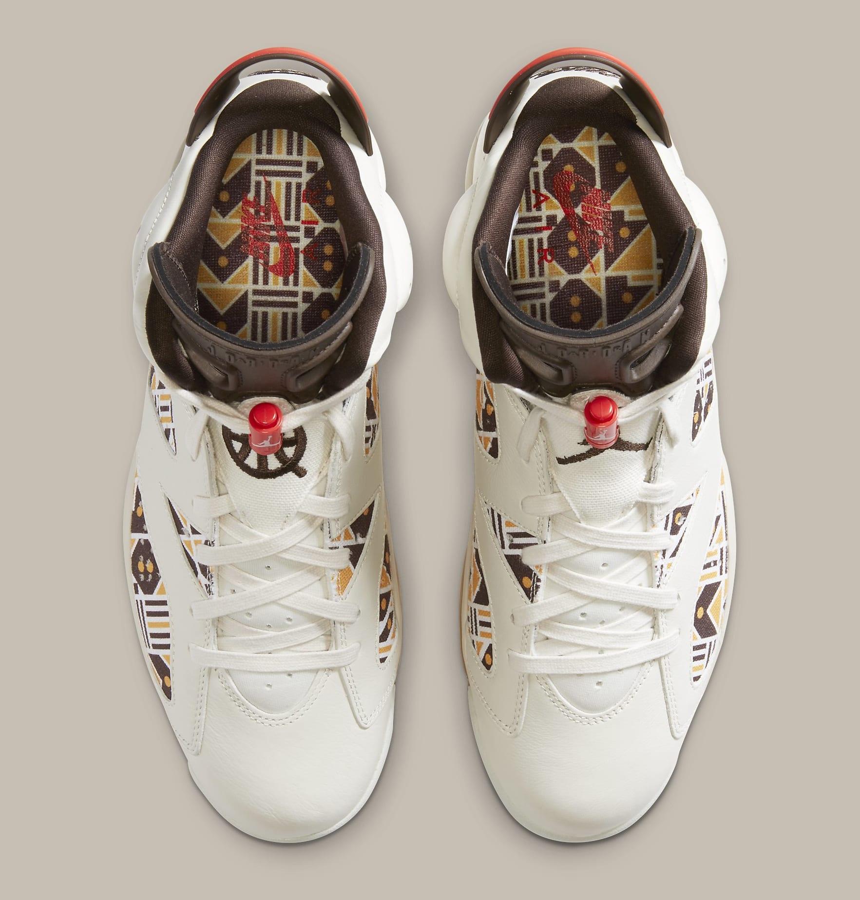 Air Jordan 6 Retro 'Quai 54' CZ4152-100 Top