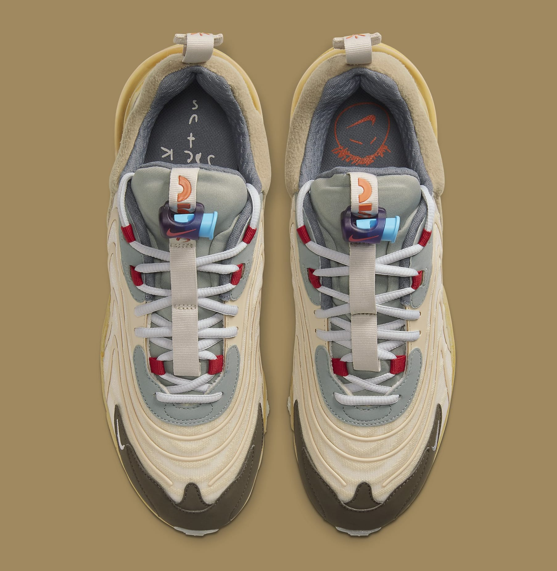 Travis Scott x Nike Air Max 270 React ENG CT2864-200 Top