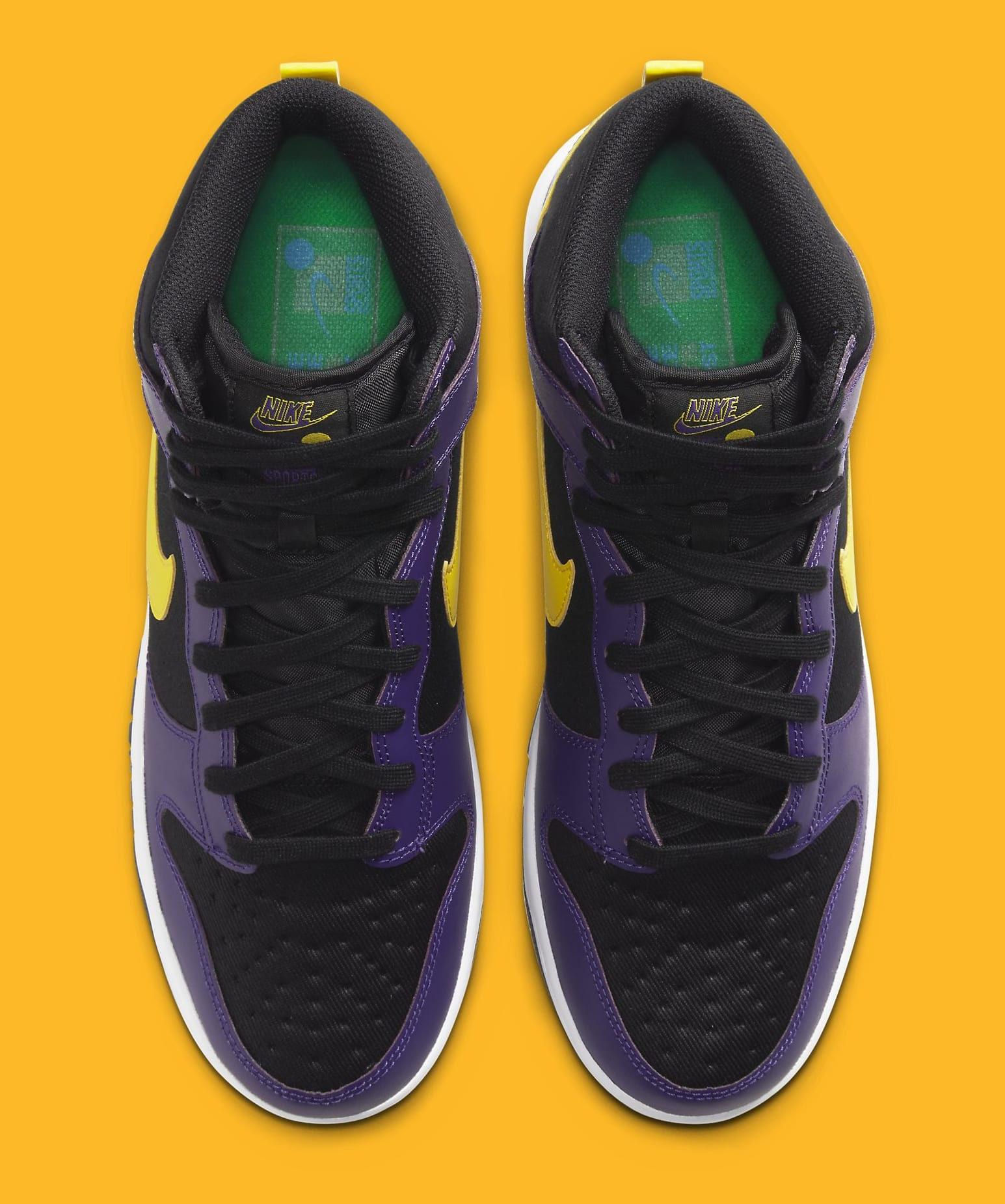 Nike Dunk High PRM EMB 'Lakers' DH0642-001 Top