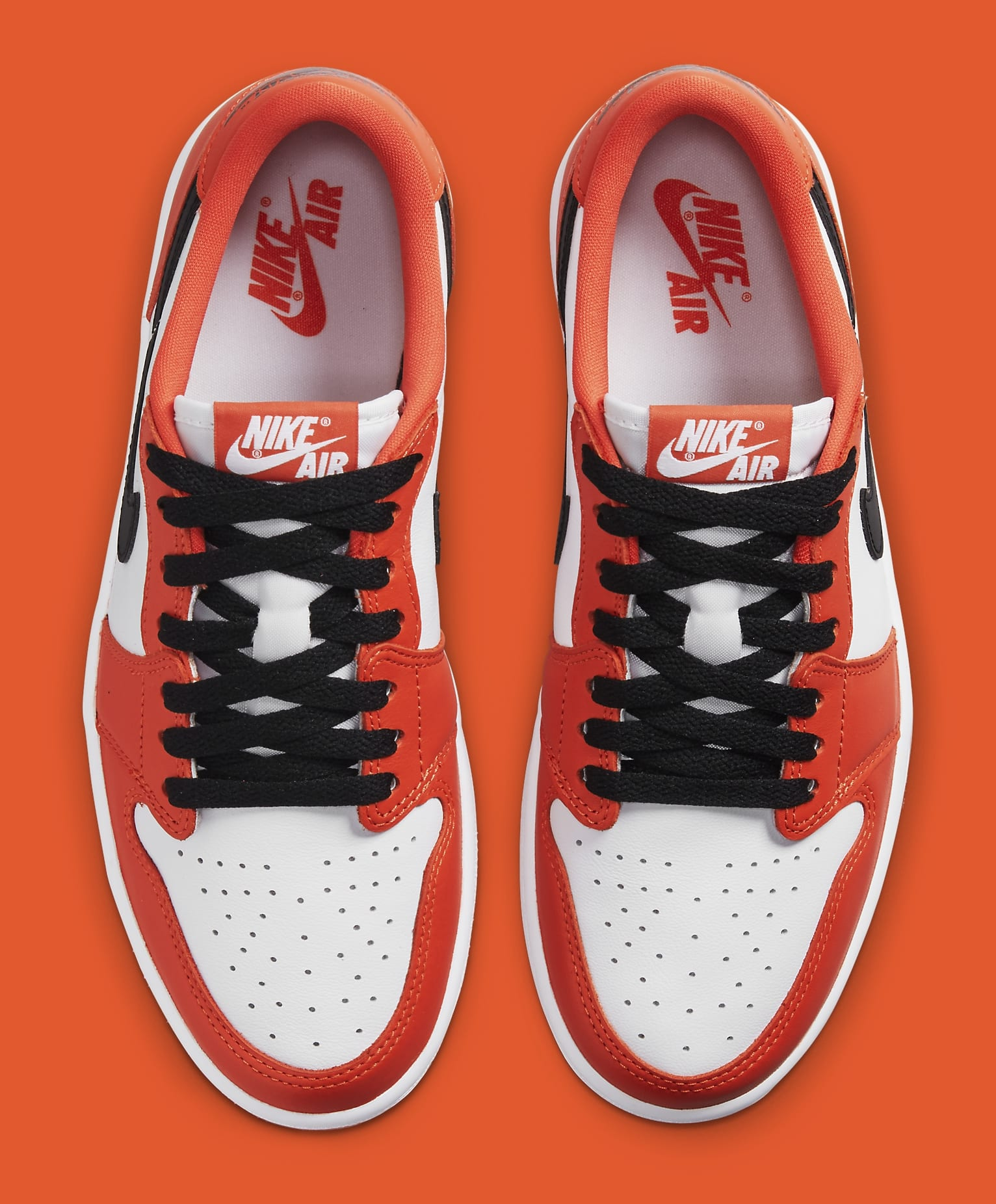 Air Jordan 1 Low OG 'Orange/White/Black' CZ0775-801 Top