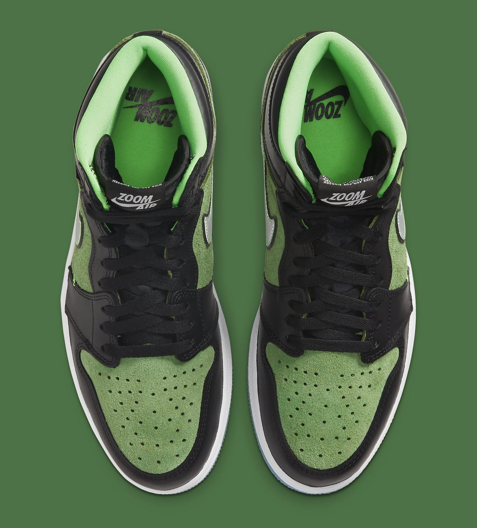 Air Jordan 1 High Zoom 'Rage Green' CK6637-002 Top
